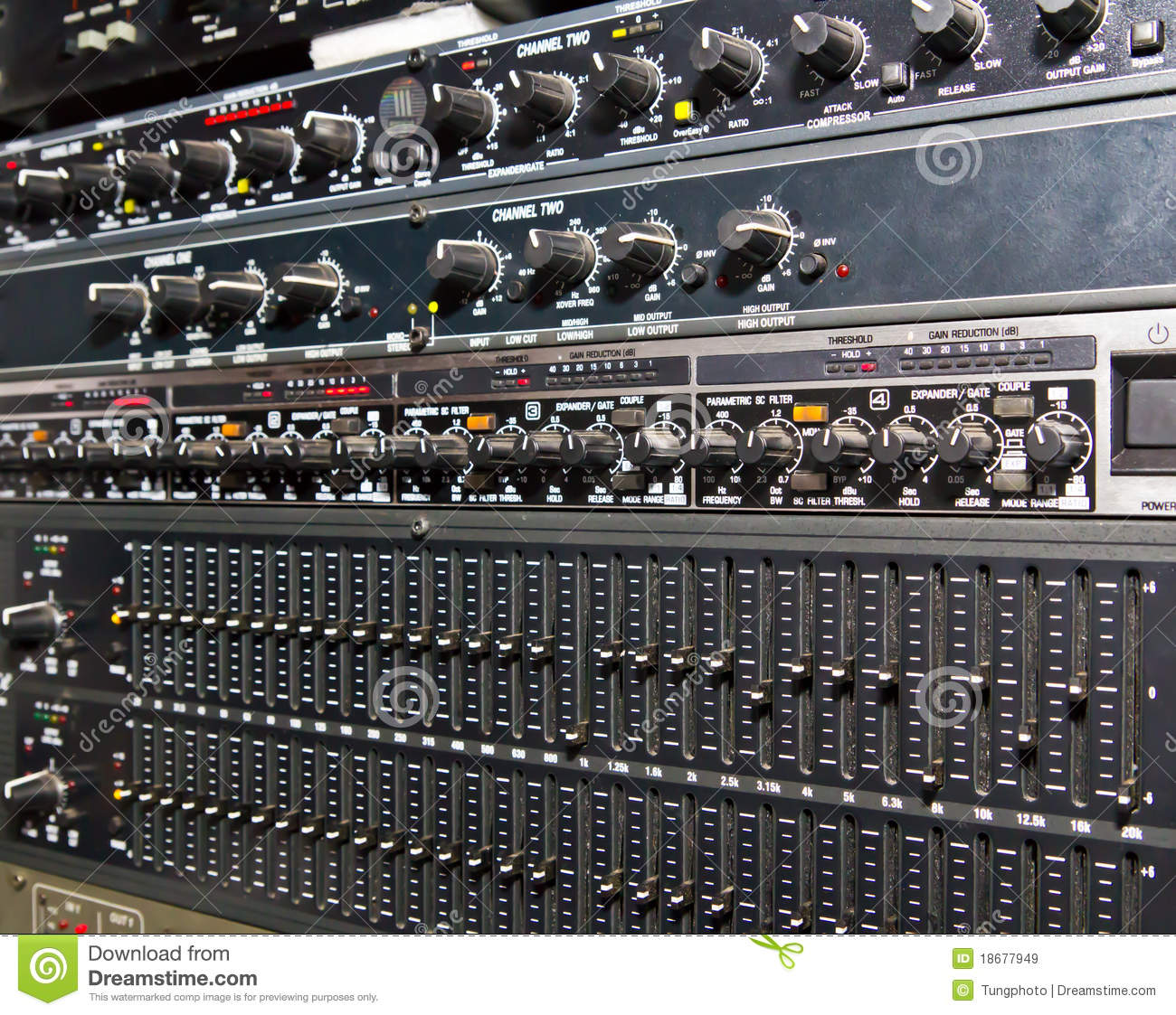 Sound Amplifier System Royalty Free Stock Images