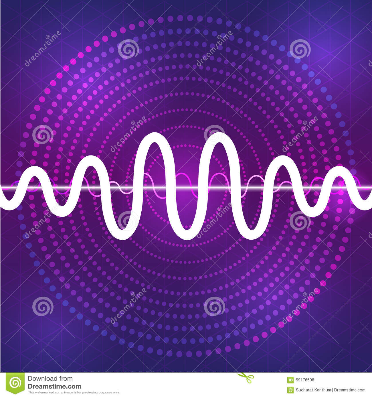 Sound And Audio Waveform Design Background Stock Vector - Image ...