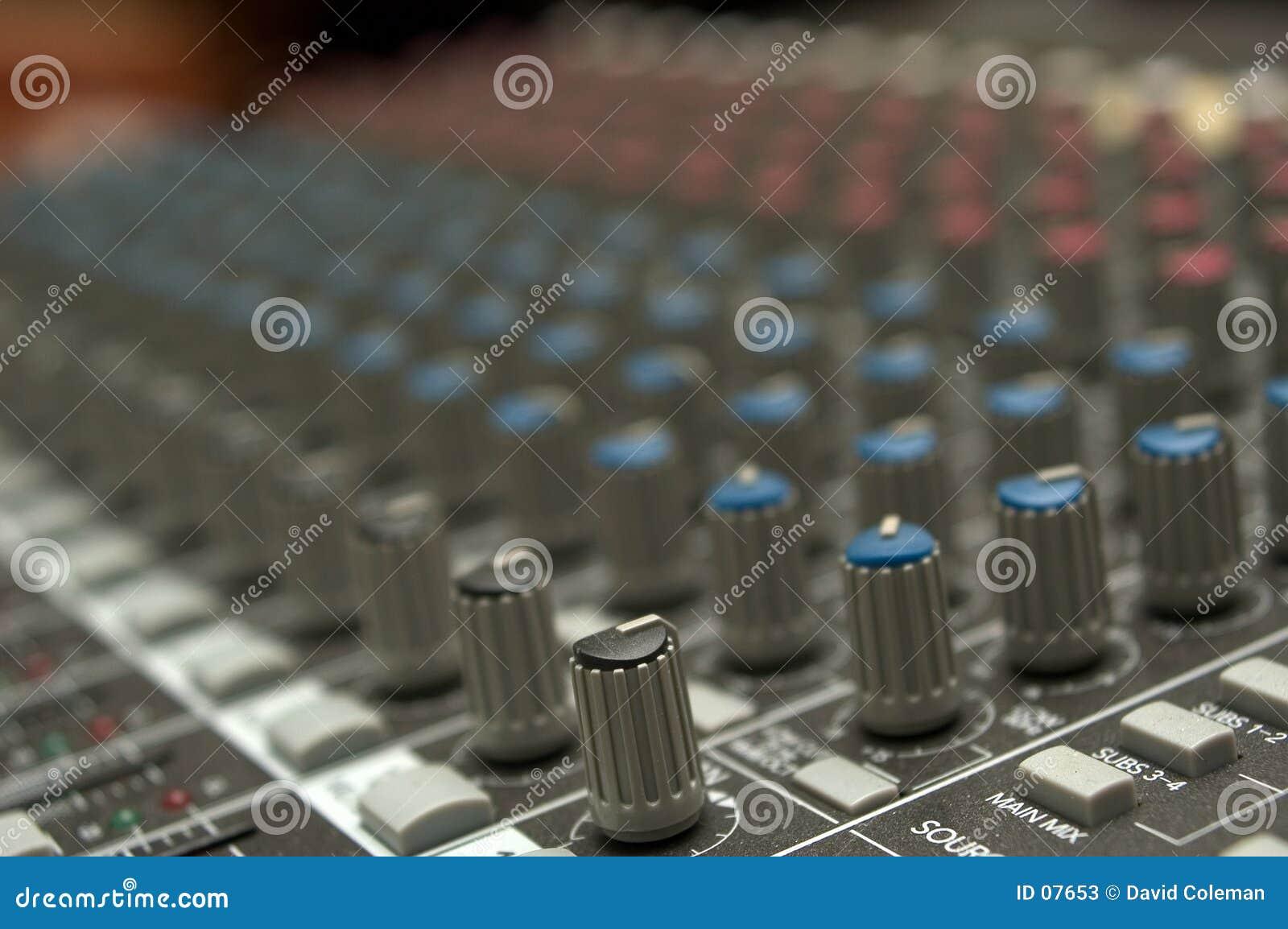 Sound board controls
