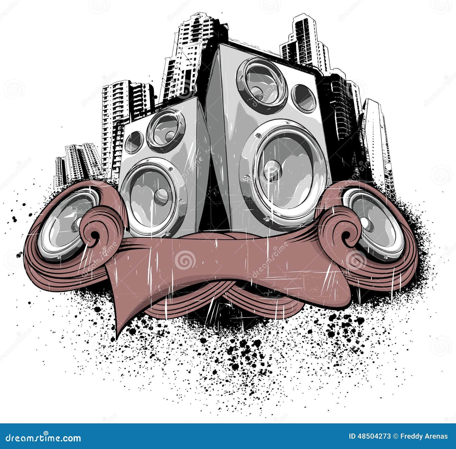 Sound City stock illustration  Illustration of image - 48504273
