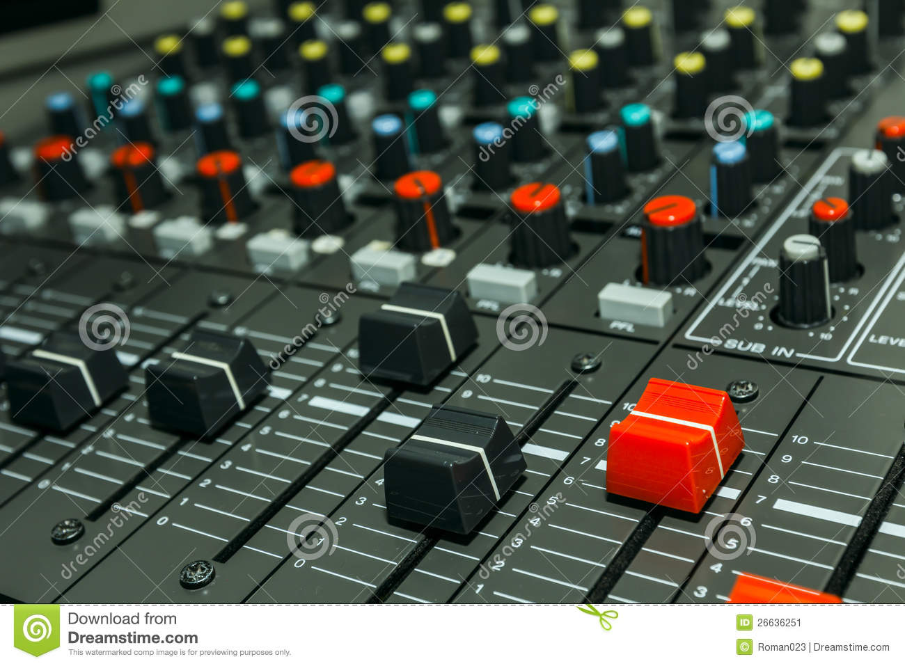 Sound Control Board Stock Image Image 26636251