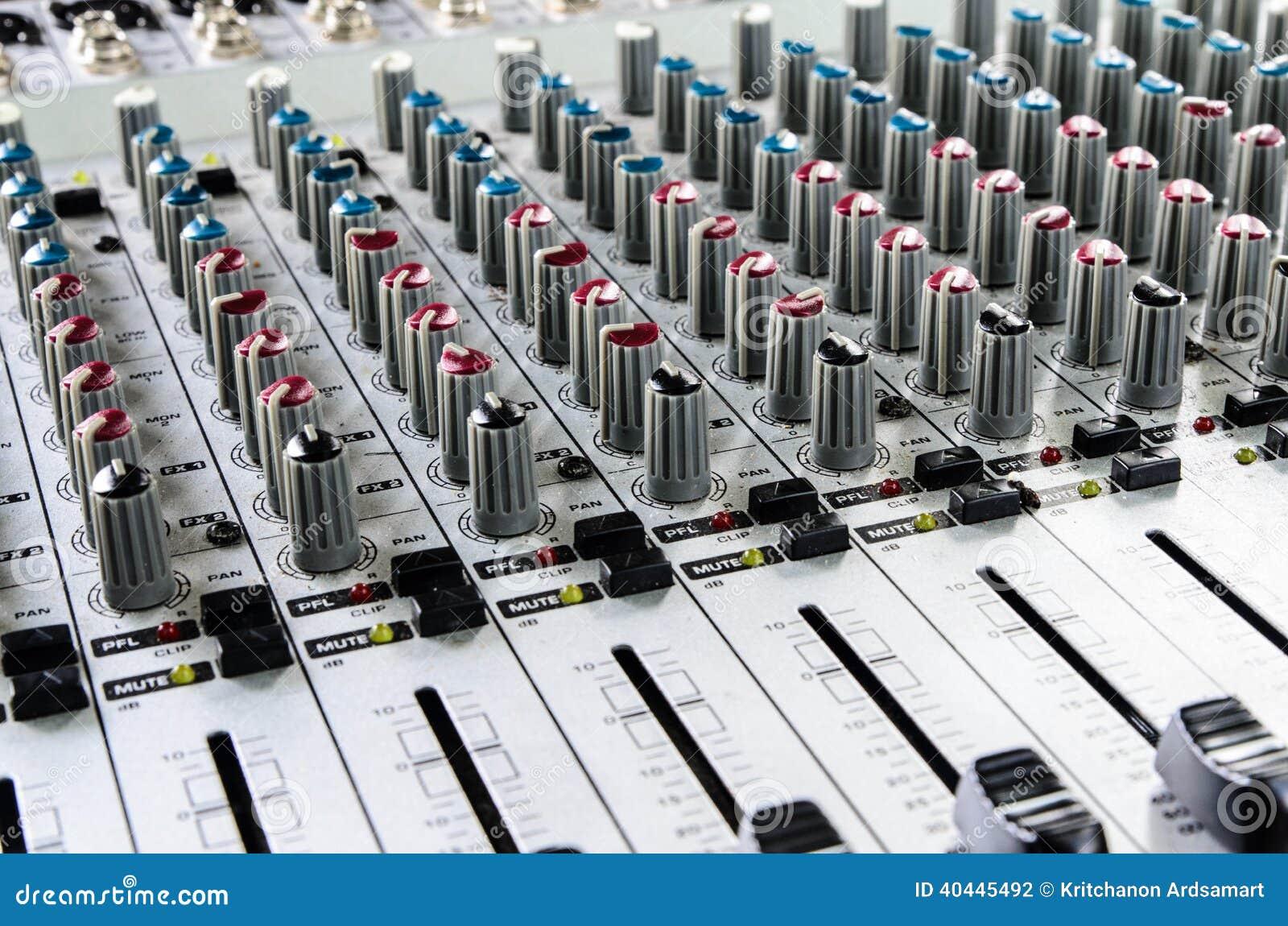 Sound mixer stock photo  Image of producer, digital, mixer - 40445492