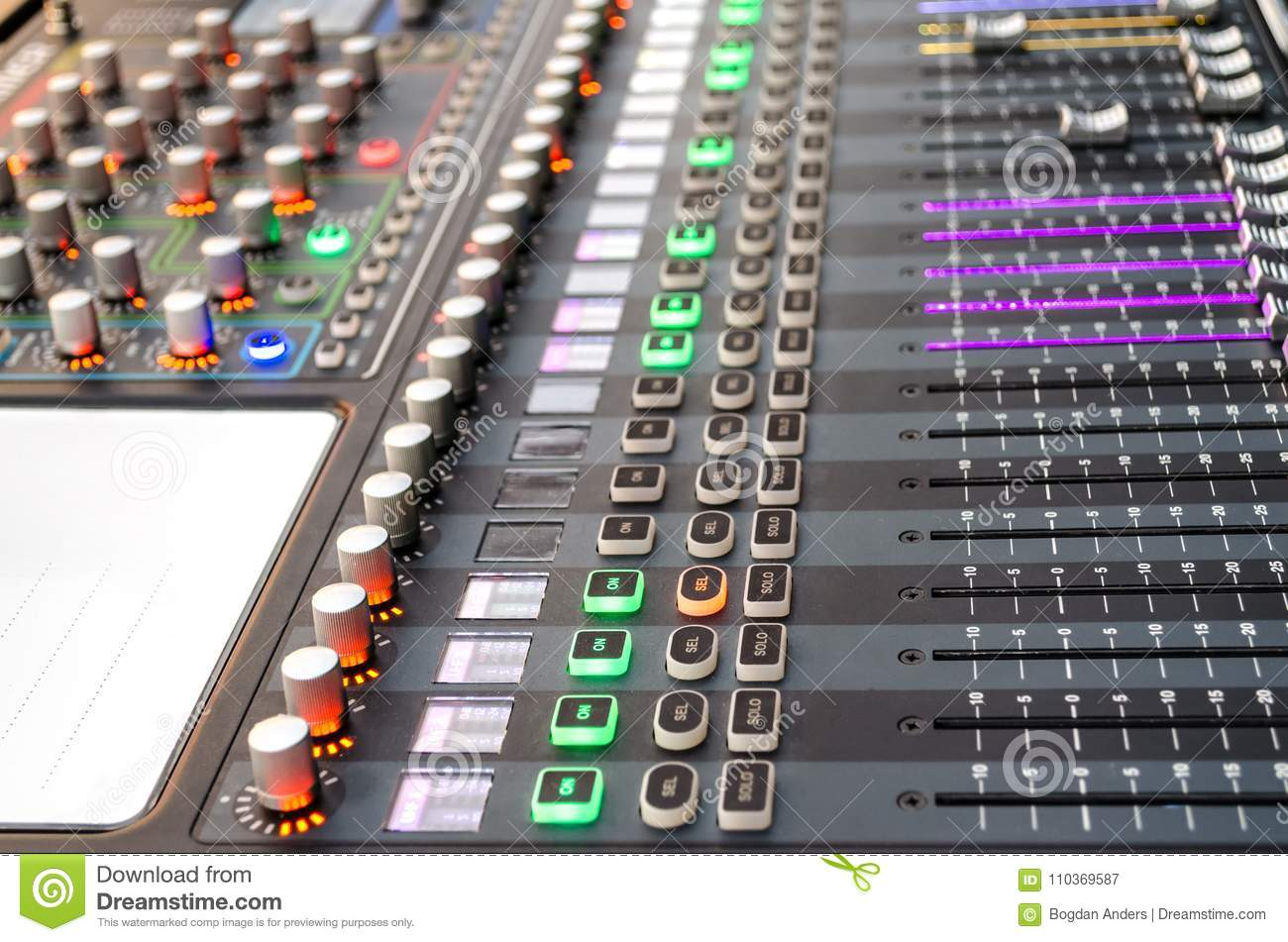 Sound mixer at live event stock image  Image of show - 110369587