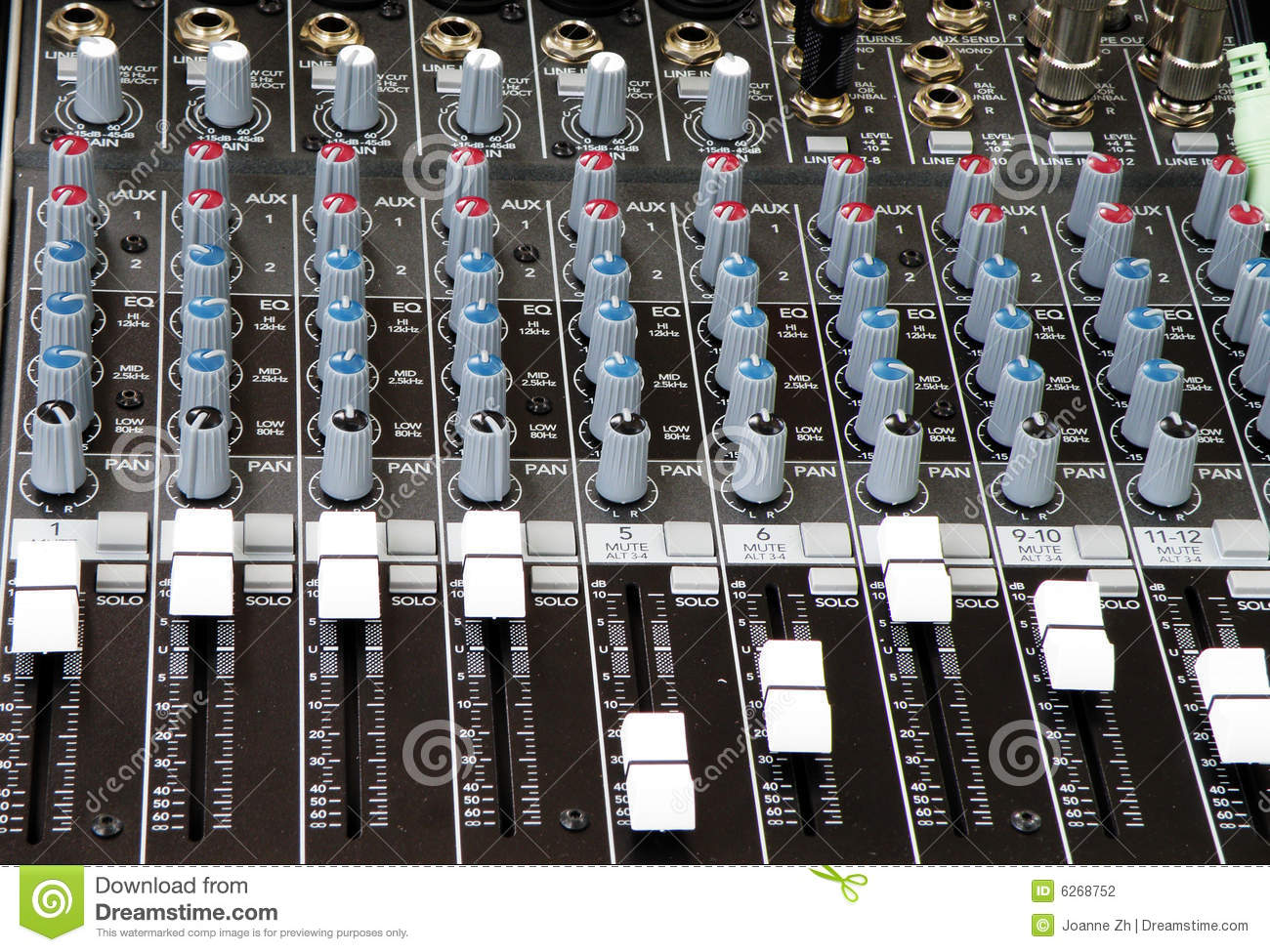 Sound And Music Mixer Of Dj Stock Photo Image Of Engineering Bright 6268752