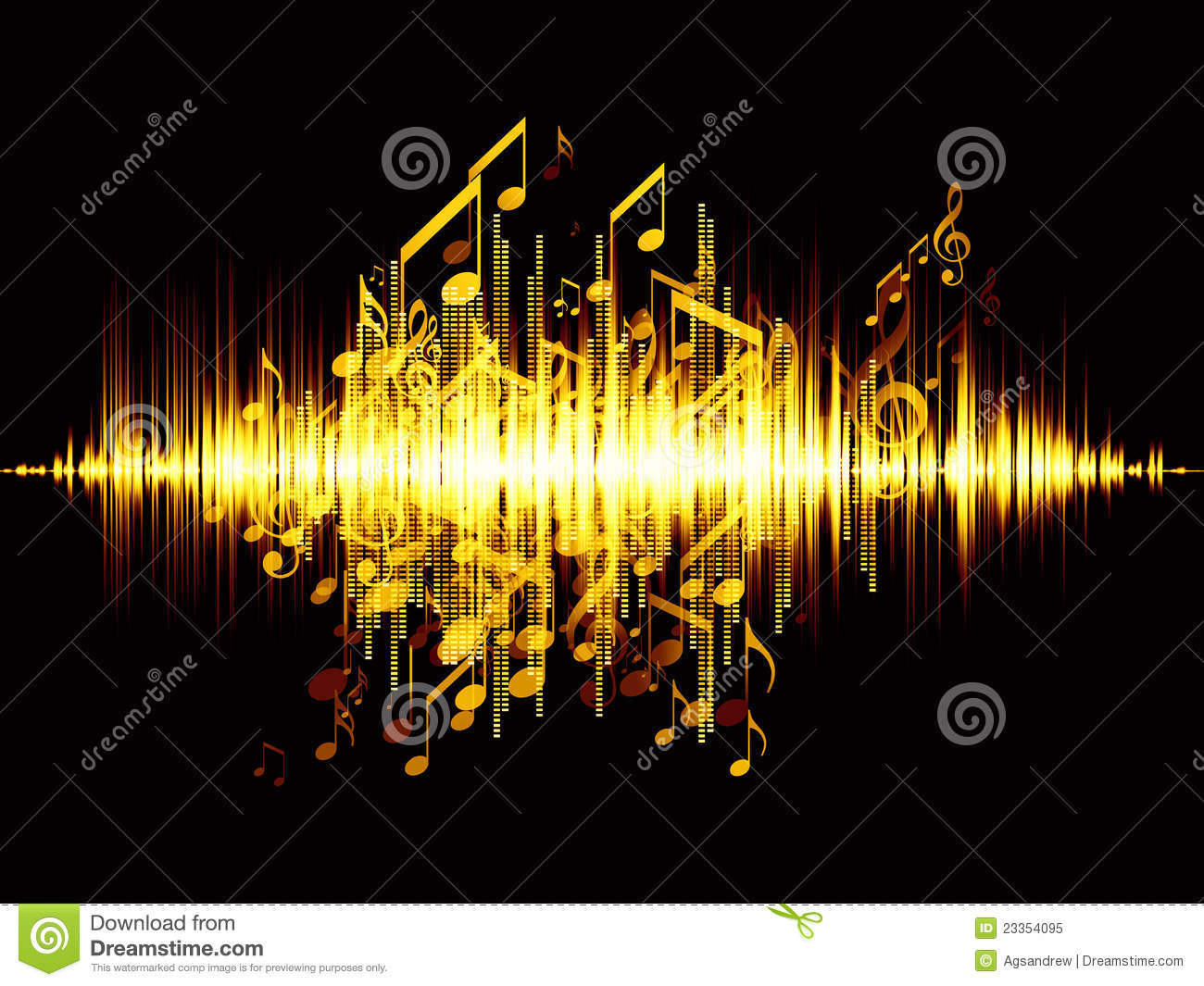 sound wave royalty free stock photo image 23354095