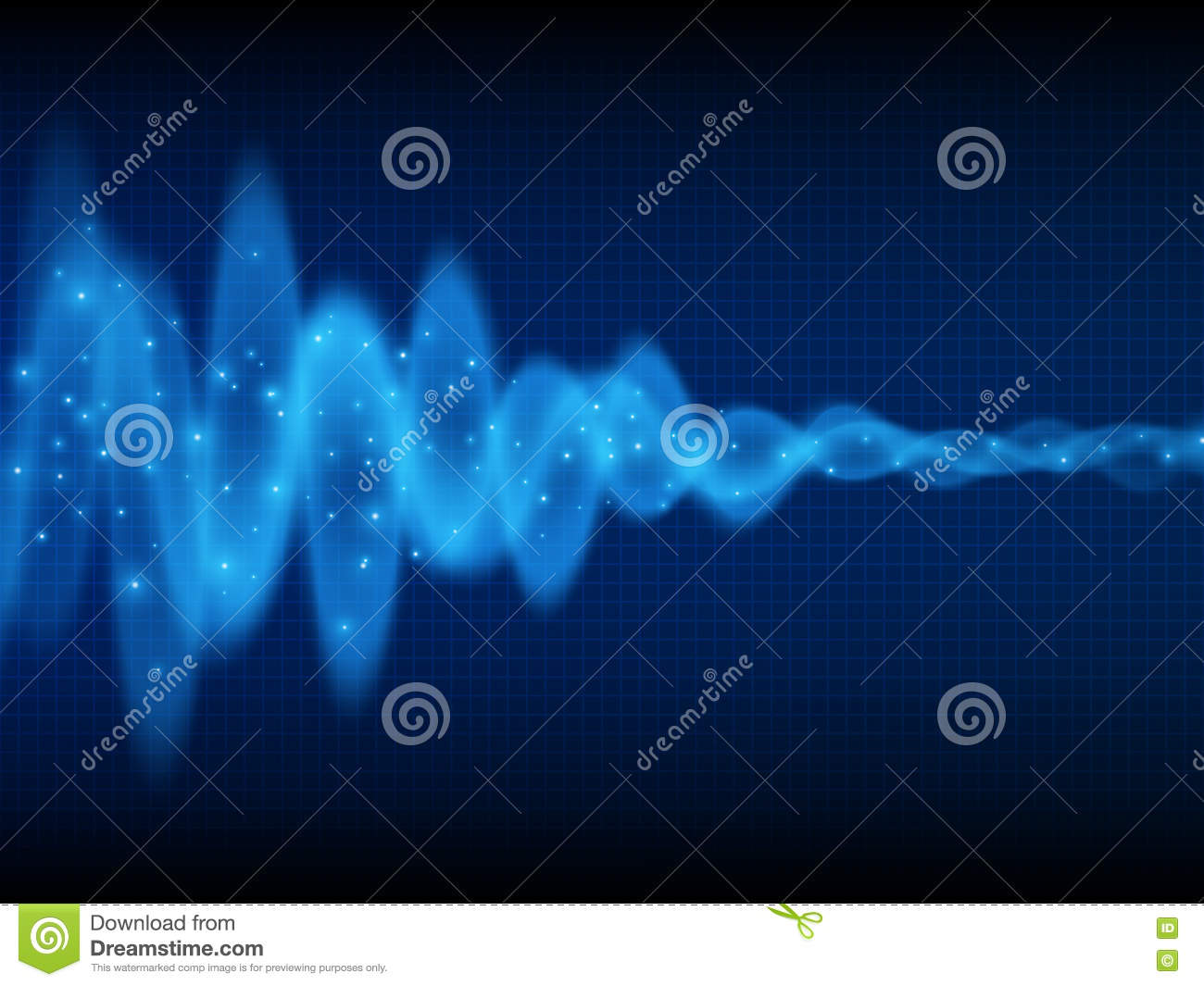 Sound Wave  Music Background  Energy Flow  Audio Wave Design