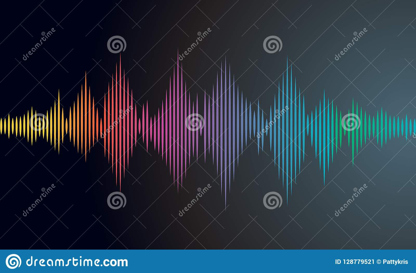 Sound Wave Vector Background Eps10 Stock Vector