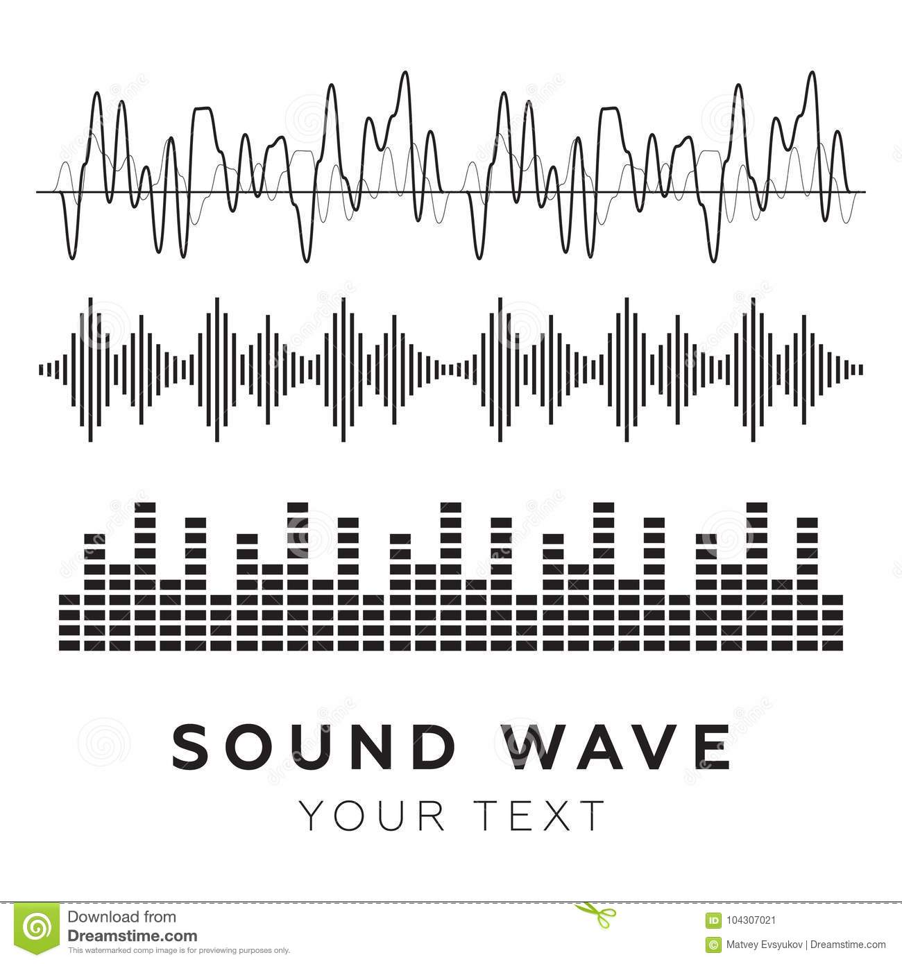 Sound Waves Concept. Sound Waves Vector. Sound Waves Sign And Symbol In  Flat Style Stock Vector - Illustration of disco, level: 104307021