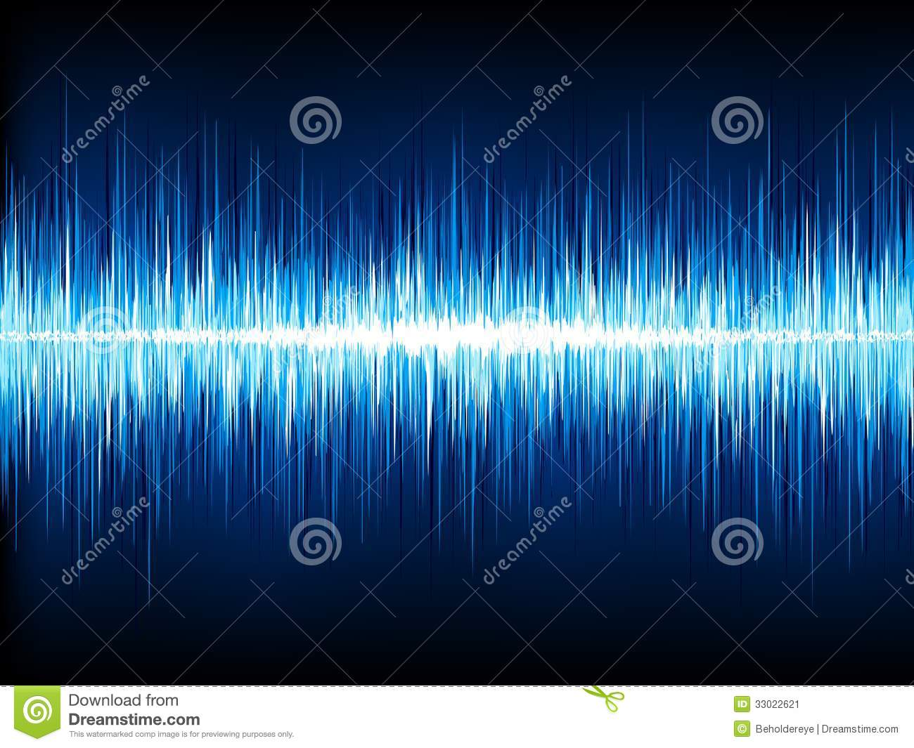 Sound Waves Oscillating On Black  Eps 10 Stock Vector