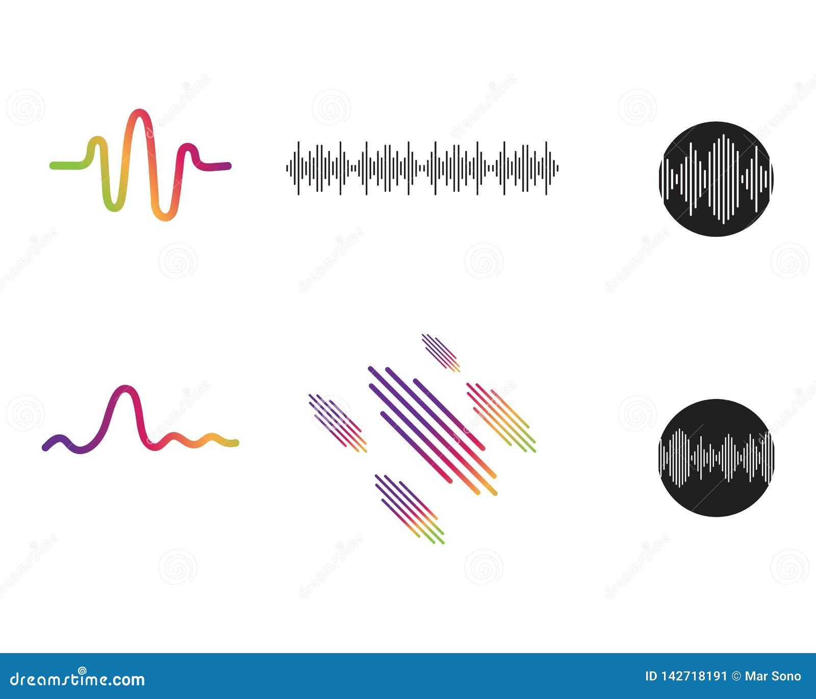 Sound waves vector illustration