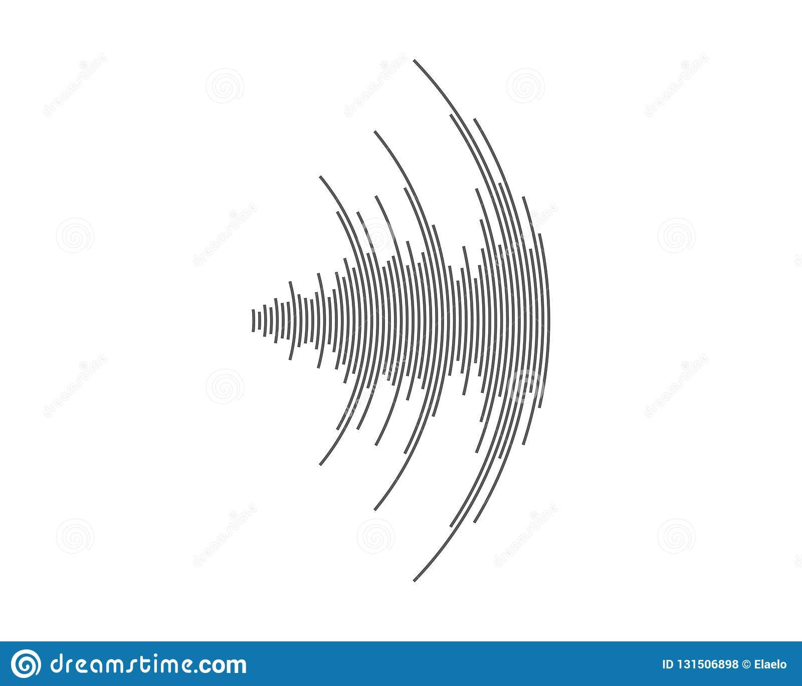 Sound Waves Illustration Design Template Stock Vector