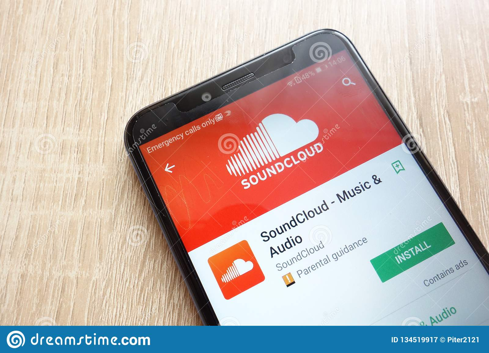 SoundCloud App On Google Play Store Website Displayed On