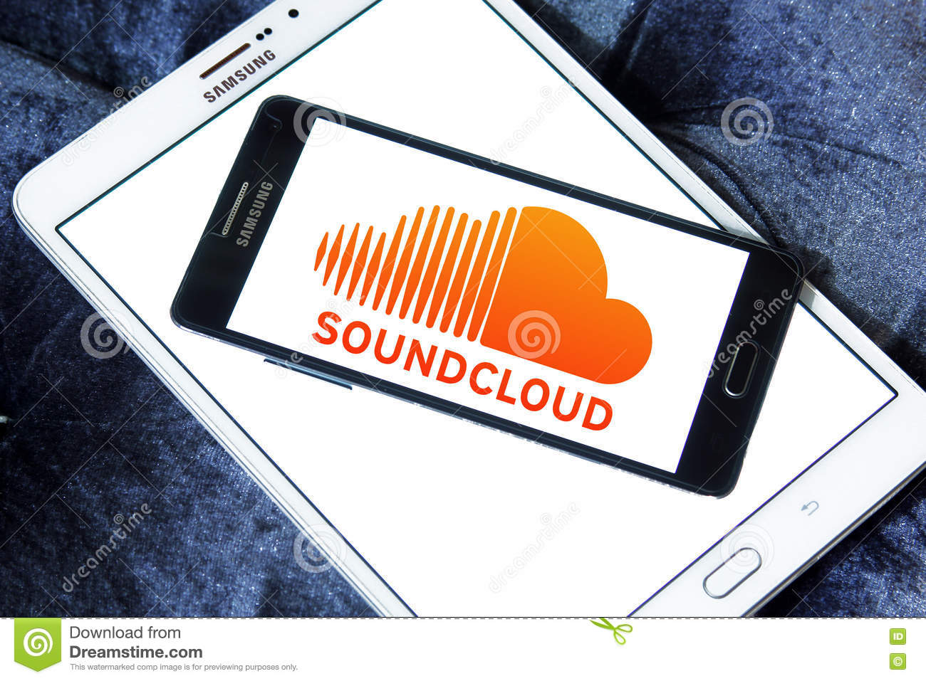 Soundcloud app logo editorial photography  Image of brands