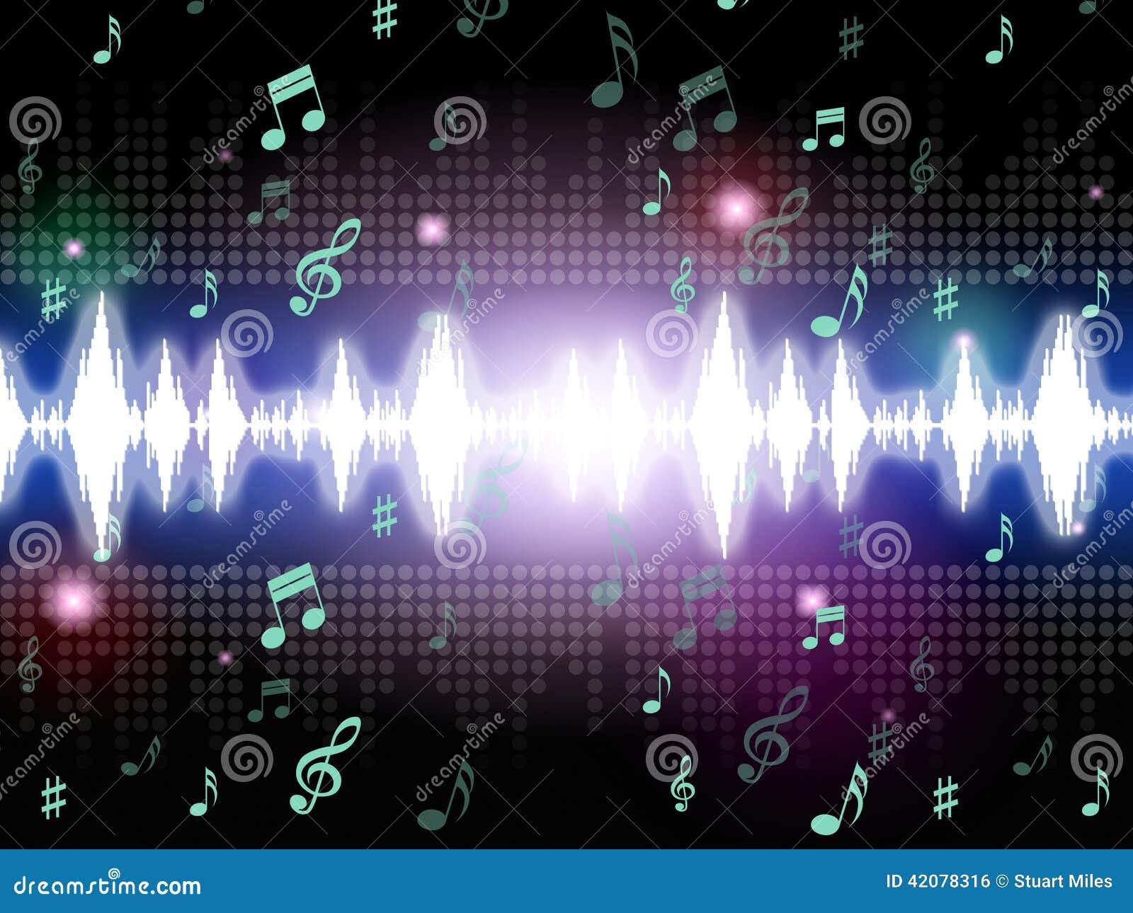 soundwaves背景意思音乐唱歌和曲调.图片