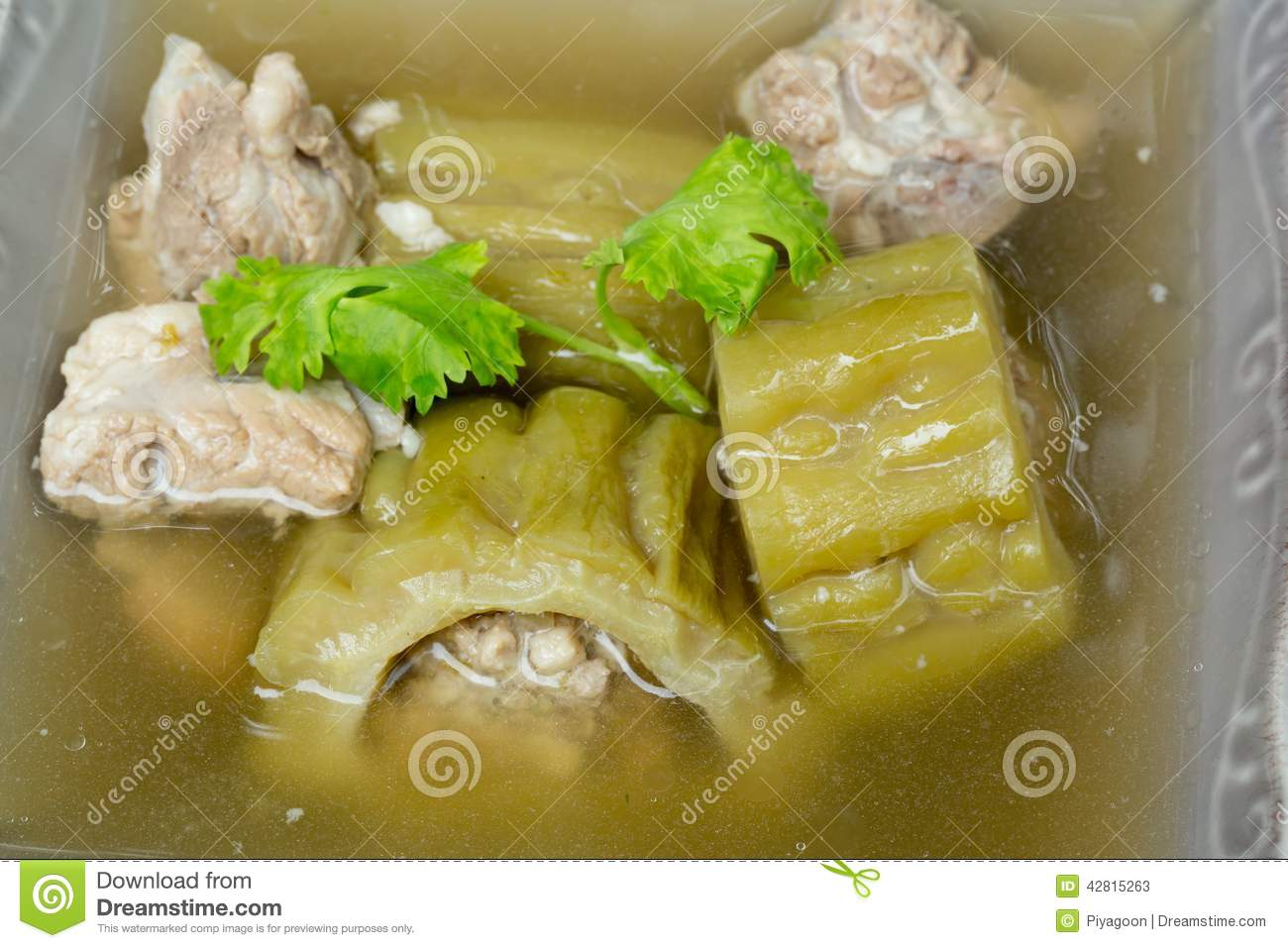 Soup With Bitter Melon With Pork Stock Photo Image 42815263