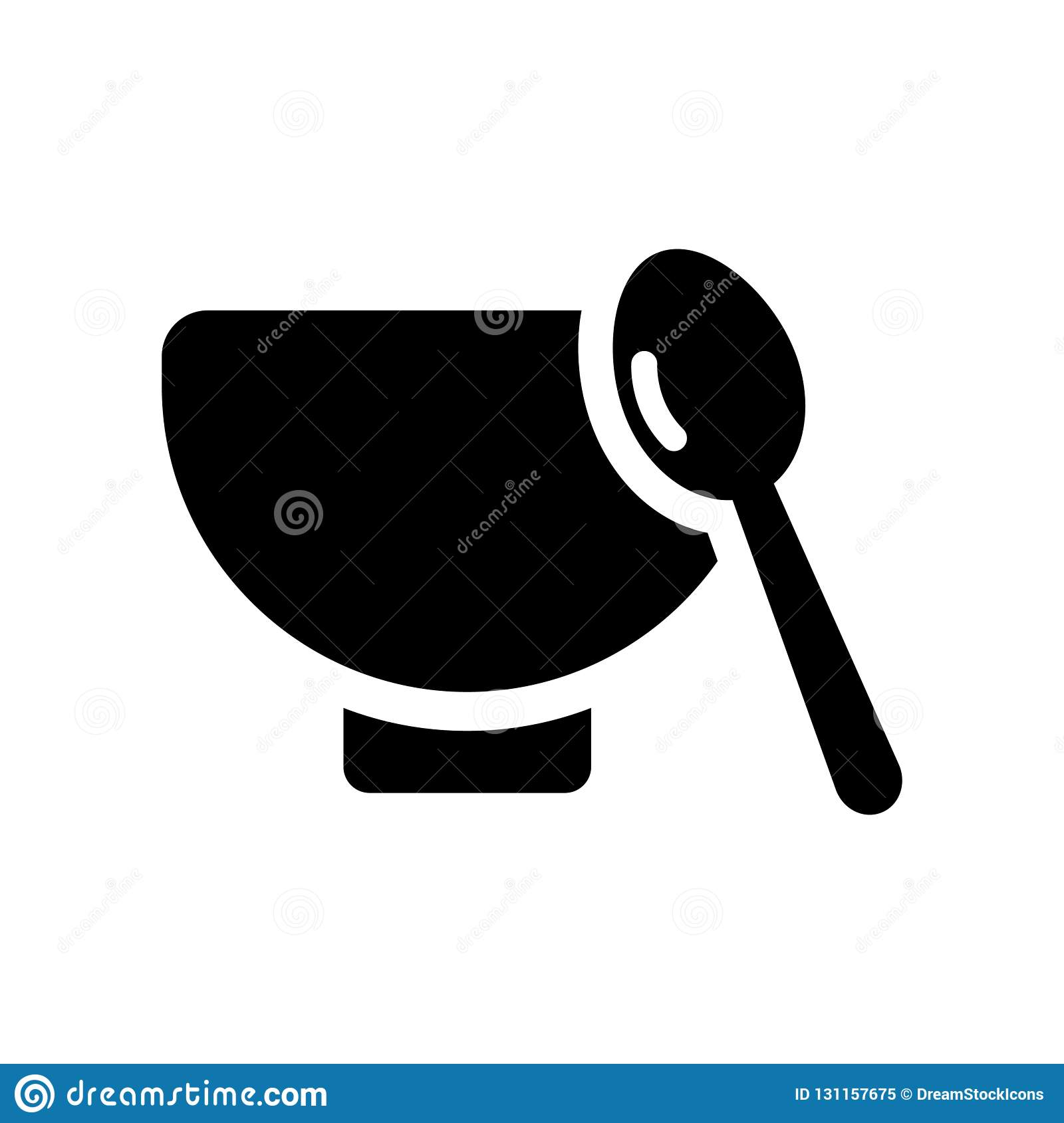 soup bowl icon. Trendy soup bowl logo concept on white background from kitchen collection