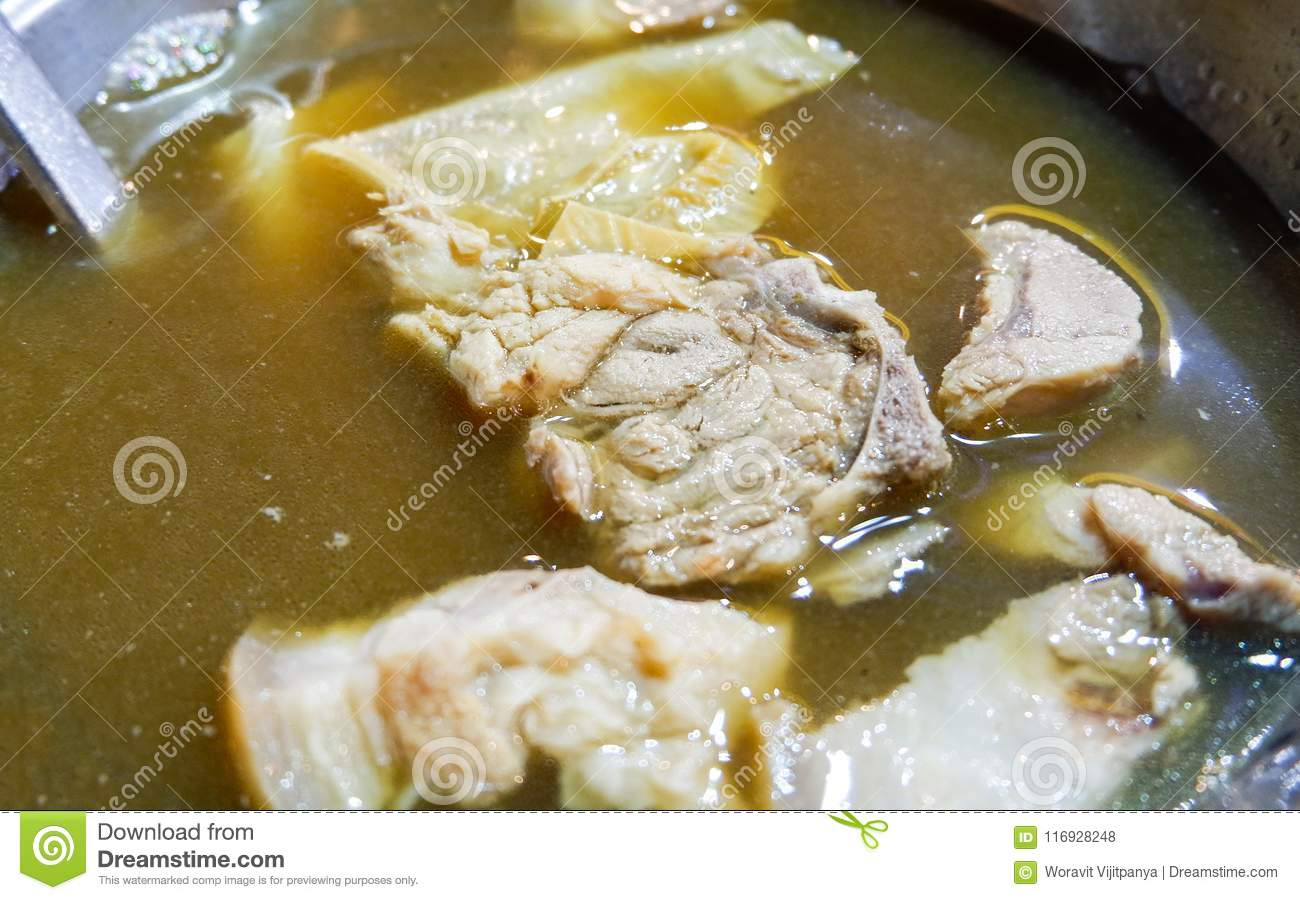 Chinese Pork Chopped Is A Famous Food Stock Photo - Image of