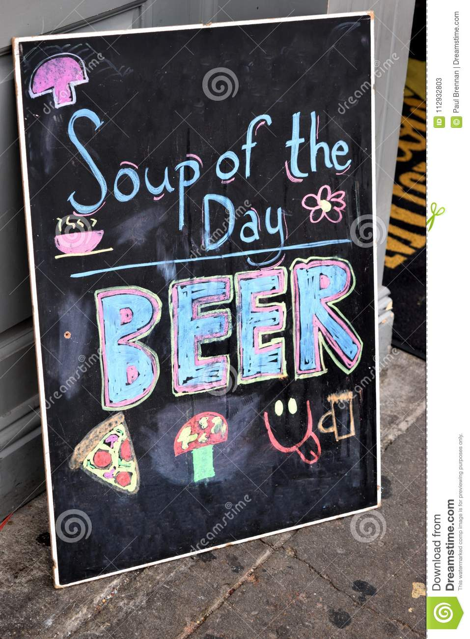 Soup of day is beer