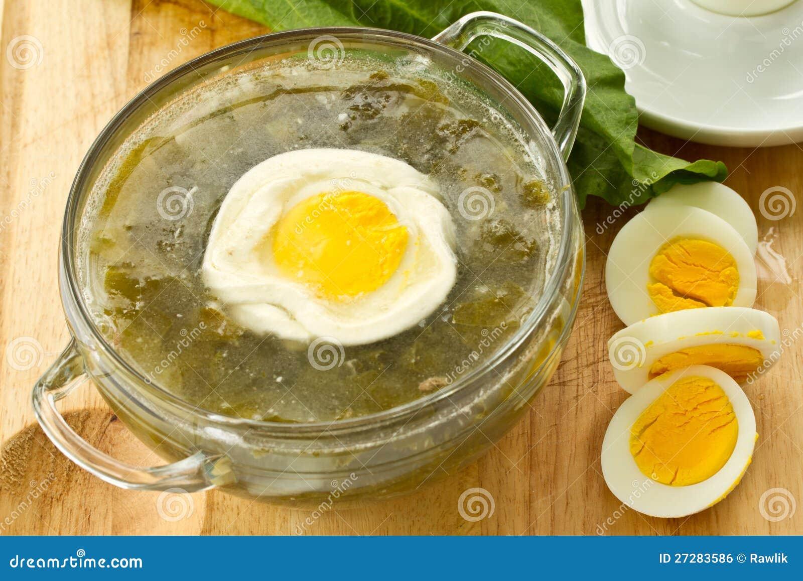 Soup med sorrel