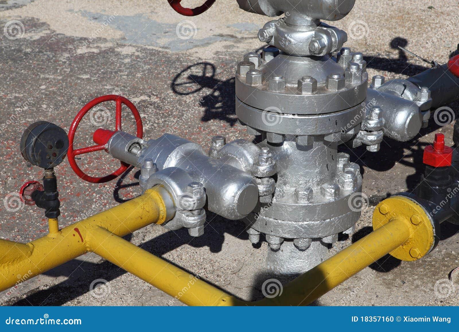 Soupape sur la tête de puits de production