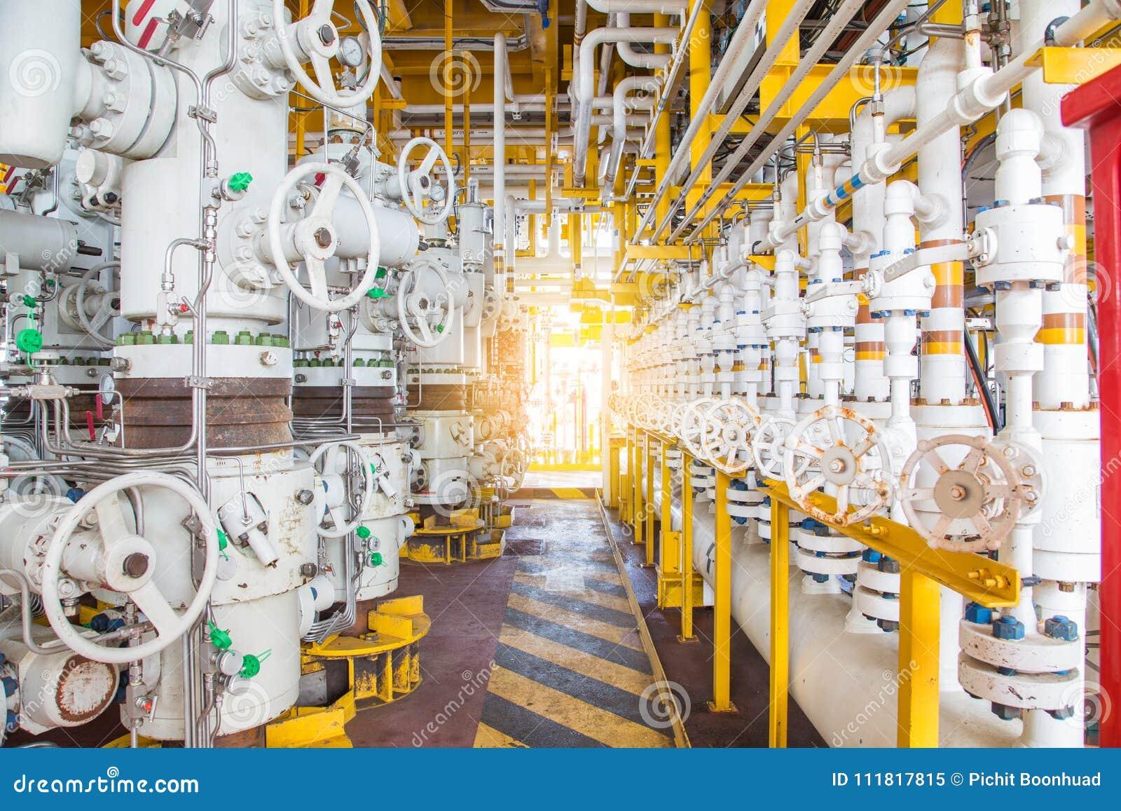 Soupapes de sûreté sur la plate-forme à distance de tête de puits de pétrole marin et de gaz pour protéger le tuyau et la ligne d