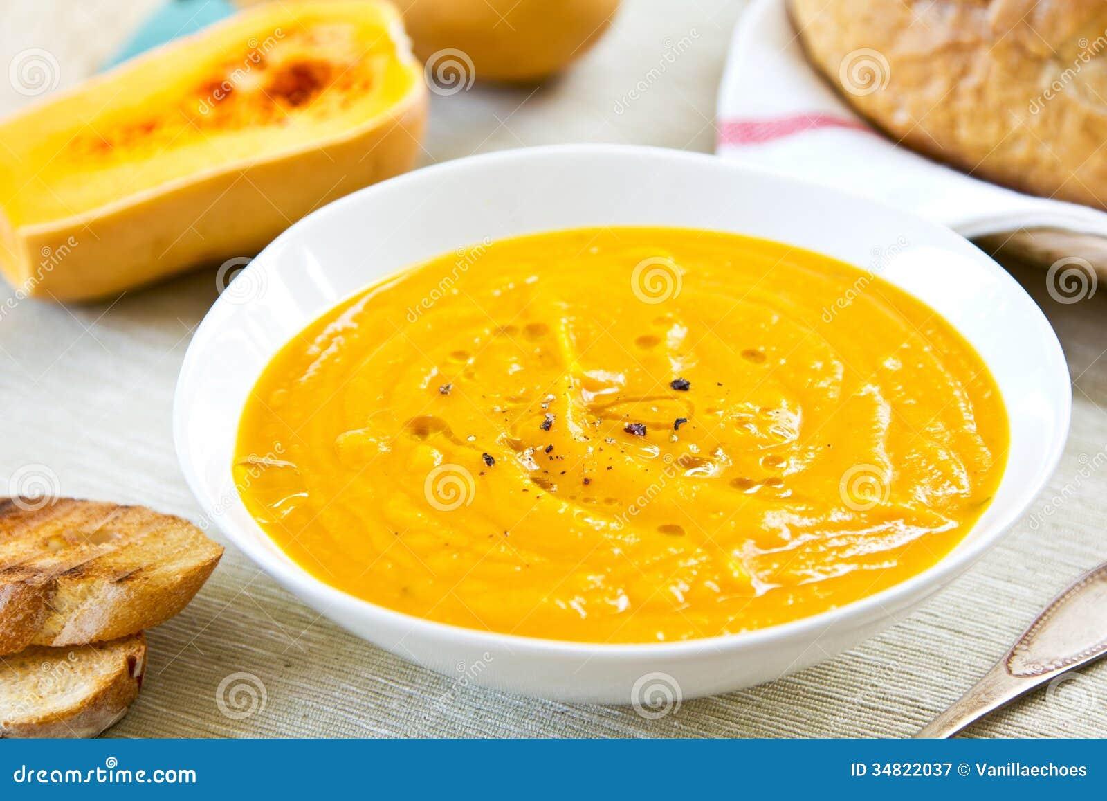 Soupe à courge de Butternut