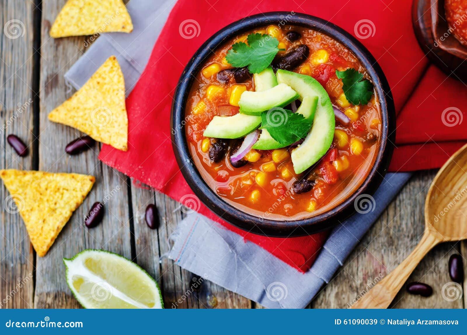 Soupe à tortilla de haricot rouge de Chipotle