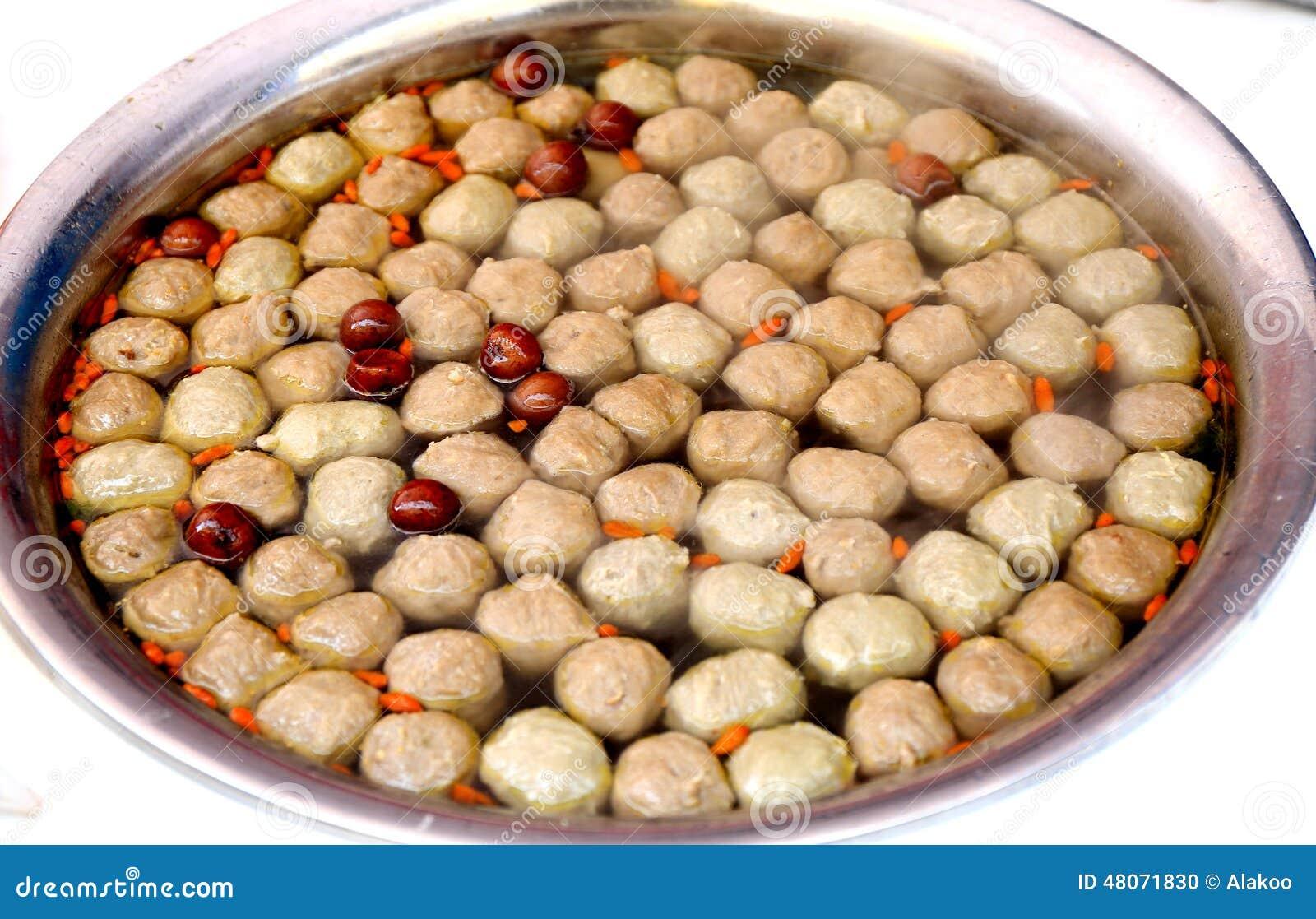 soupe boulette de viande boule de viande cuite cuisine chinoise asiatique exotique - Cuisine Asiatique Chinois