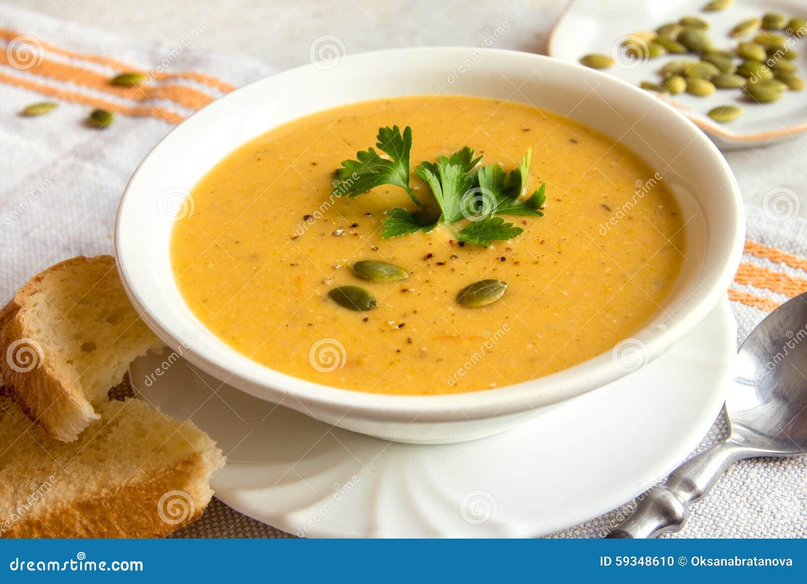 Soupe crème à potiron