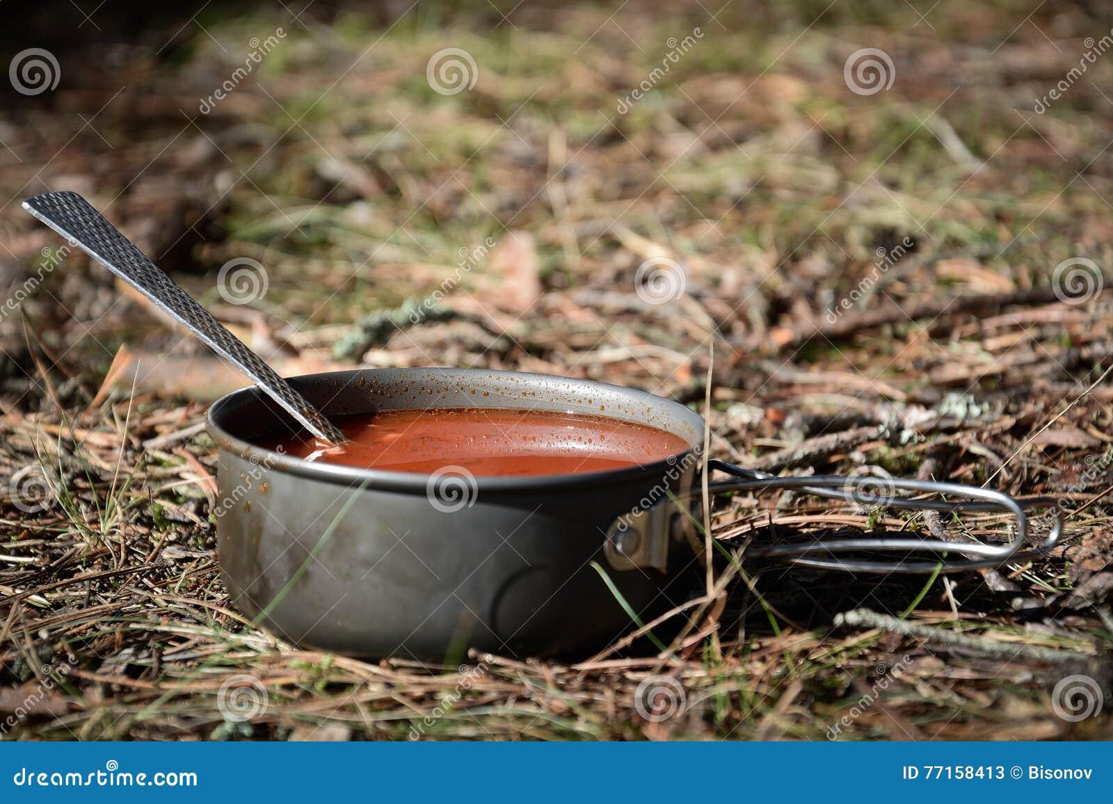 Soupe dans la forêt