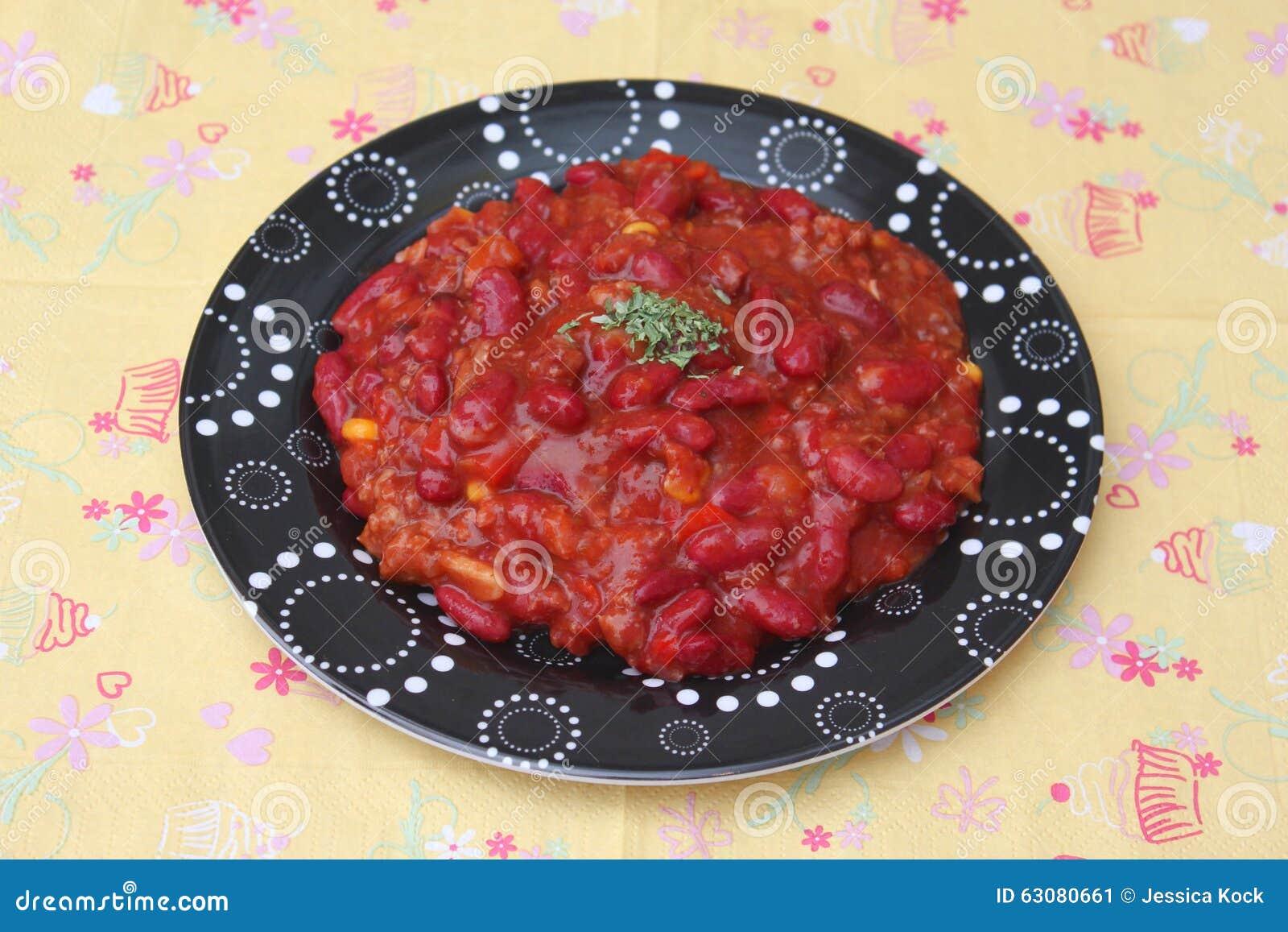 Download Soupe des haricots image stock. Image du viande, mexicain - 63080661