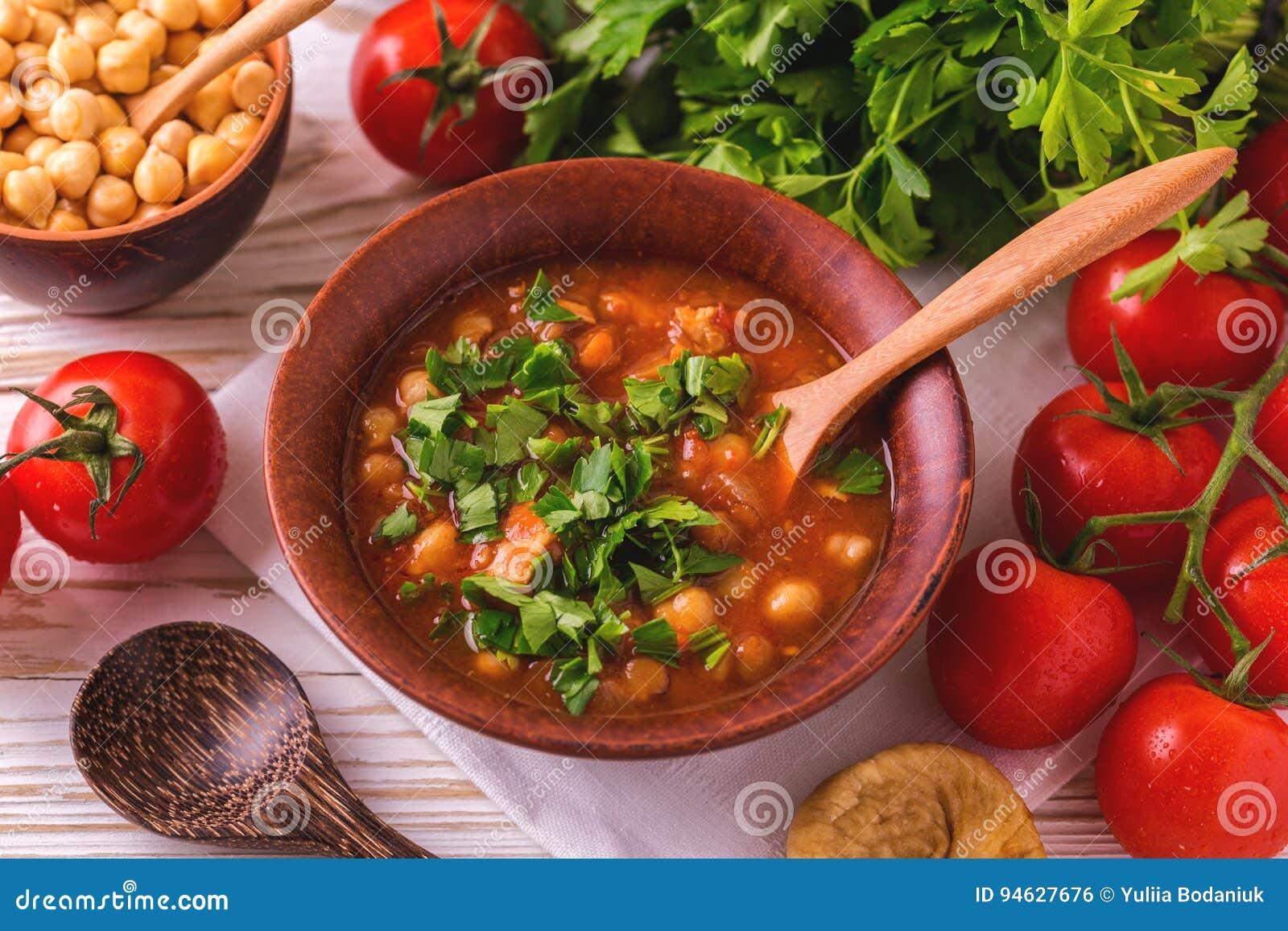 Soupe Harira Avec Des Figues Nourriture De Ramadan Cuisine Juive