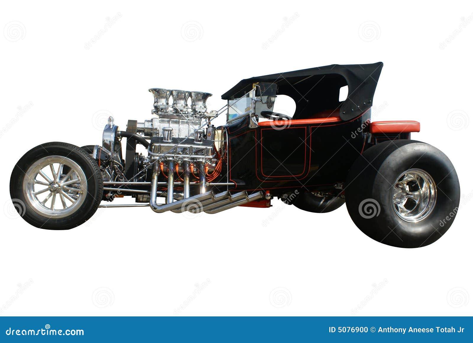 Souped Up Hotrod Car Stock Photo Image 5076900