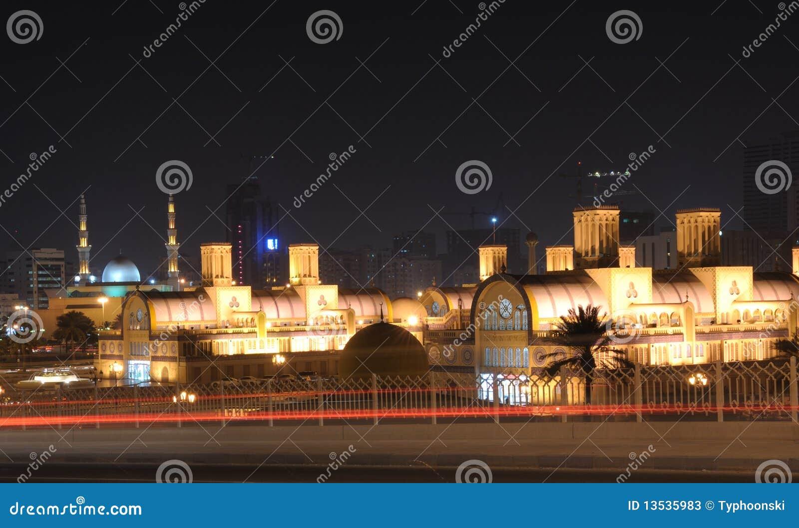 Souq central en la ciudad de Sharja
