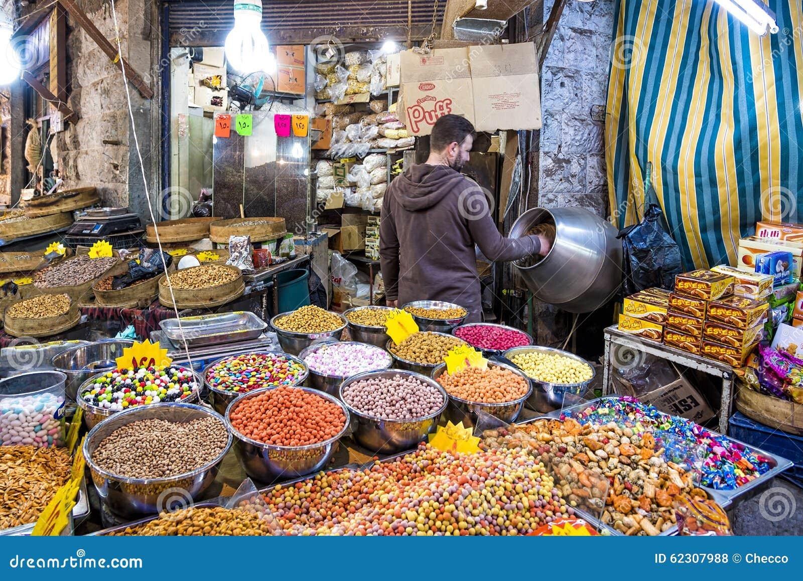 Souq Market In Amman Downtown, Jordan Editorial Stock Photo