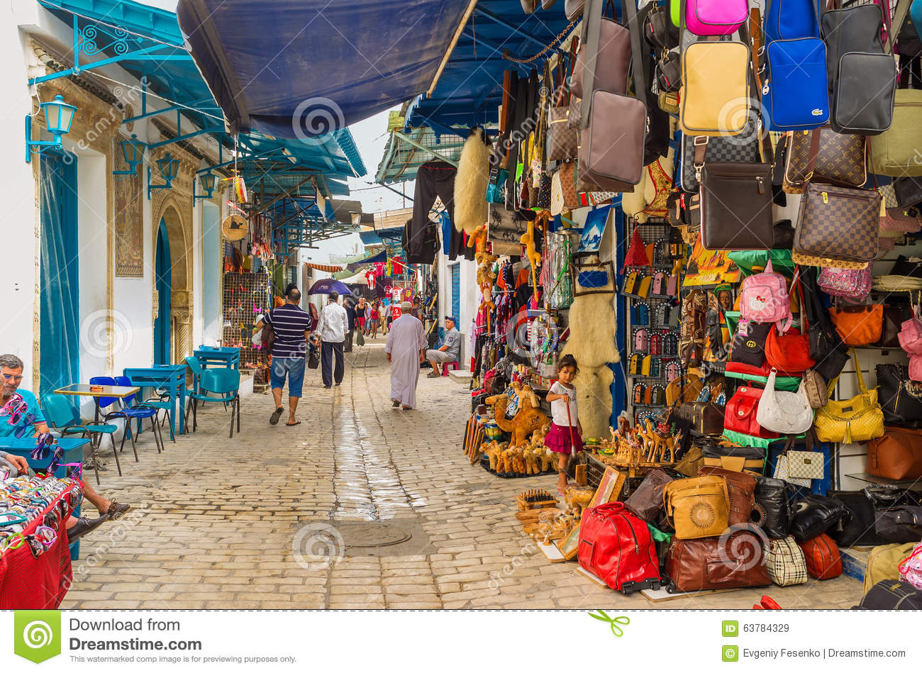 The souq in Sousse editorial stock image  Image of