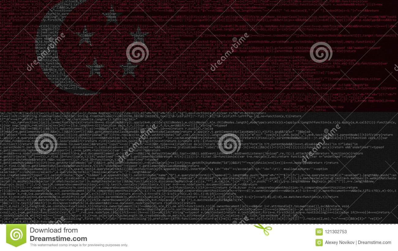 Source Code And Flag Of Singapore  Singaporean Digital Technology Or