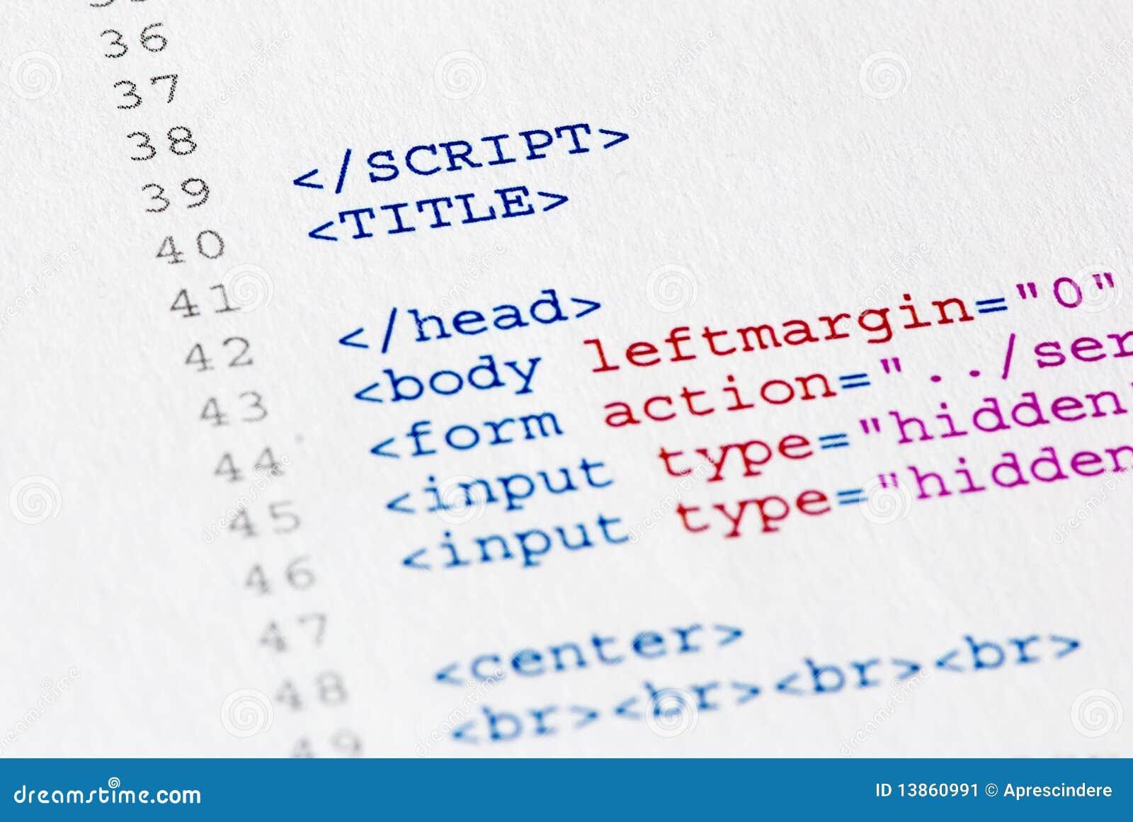 Source Code Program Stock Image Image 13860991