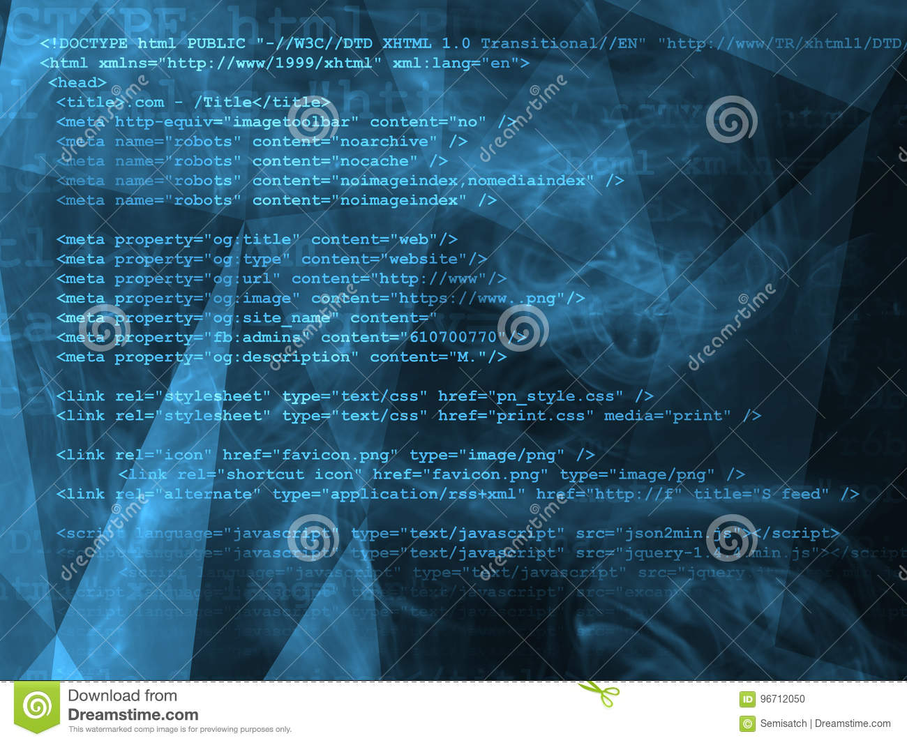 Source Code Technology Background Editorial Image - Illustration of
