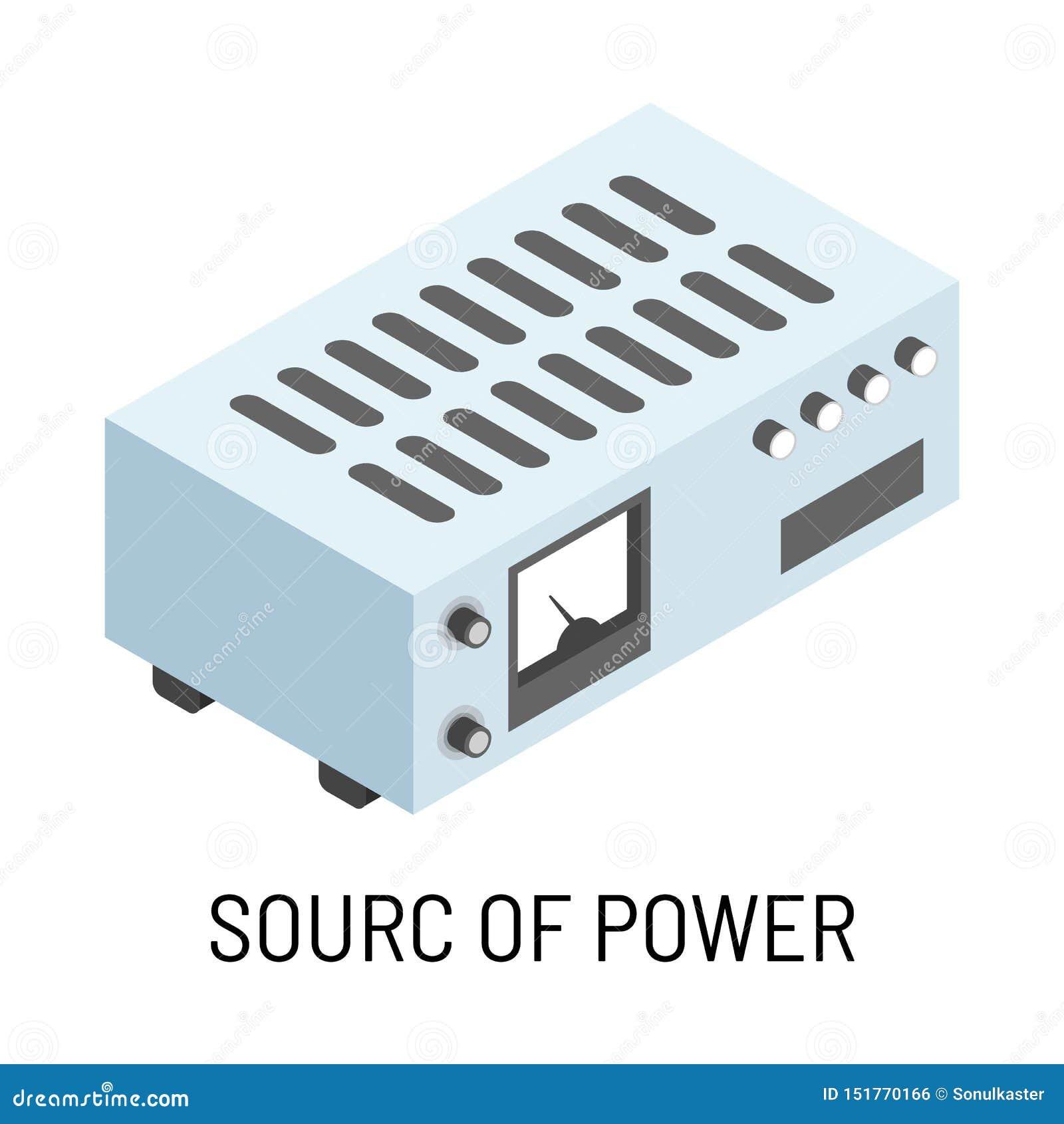 Source d appareil électrique d isolement par accumulateur de puissance