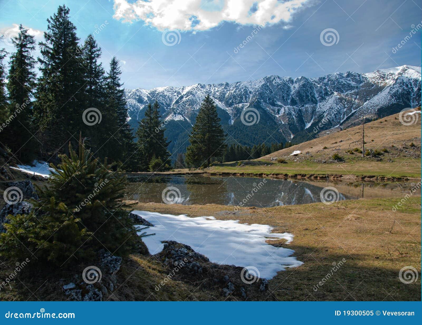 Source dans les montains