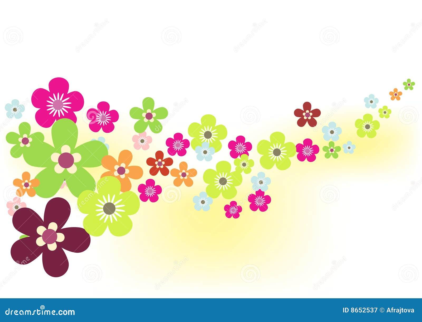 Source de fleur de fond