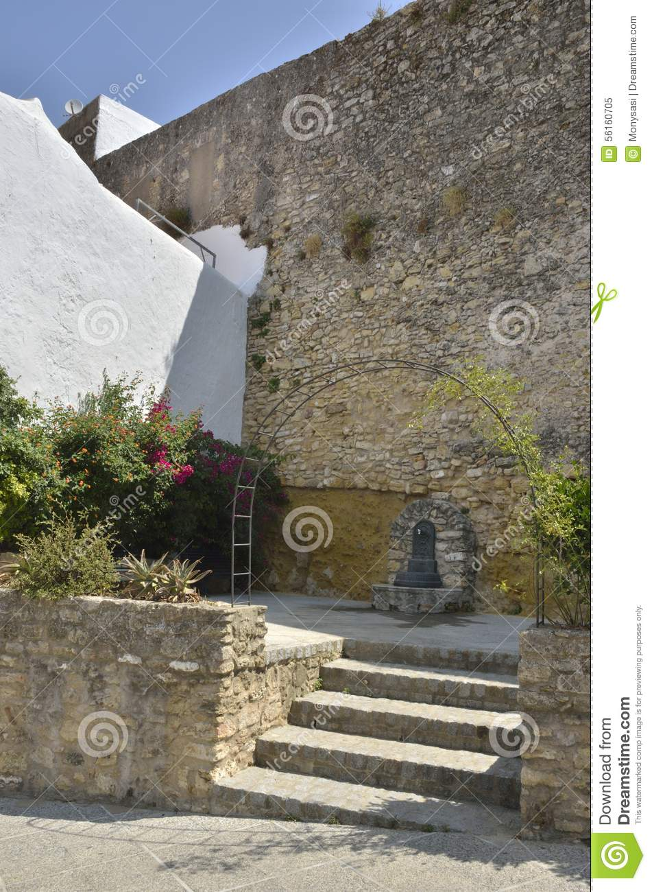 Source On Stone Wall Stock Photo Image 56160705