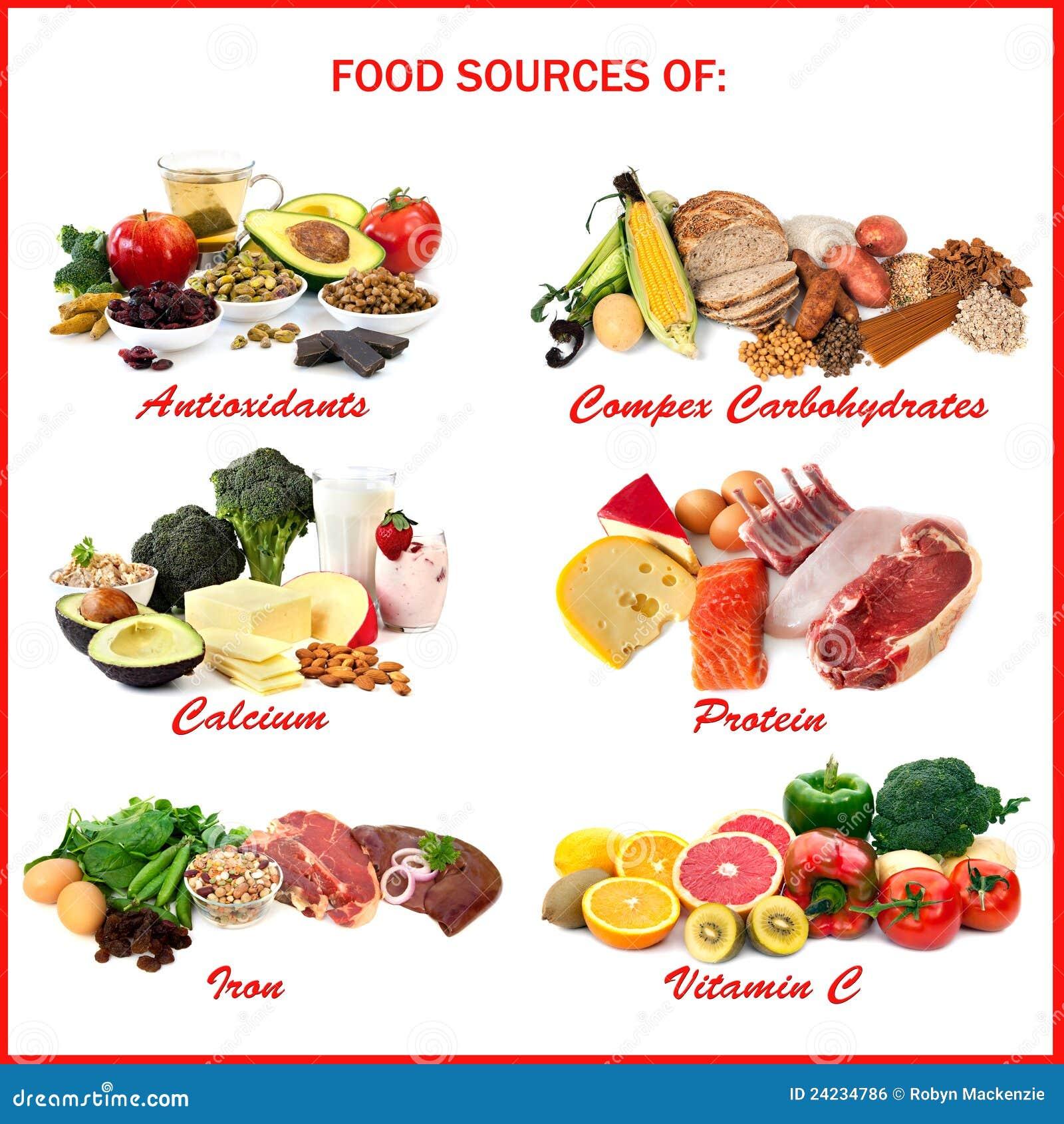 Sources de nourriture des aliments photo stock image du di t tique carbohydrates 24234786 - Alimentos que contengan hierro para embarazadas ...