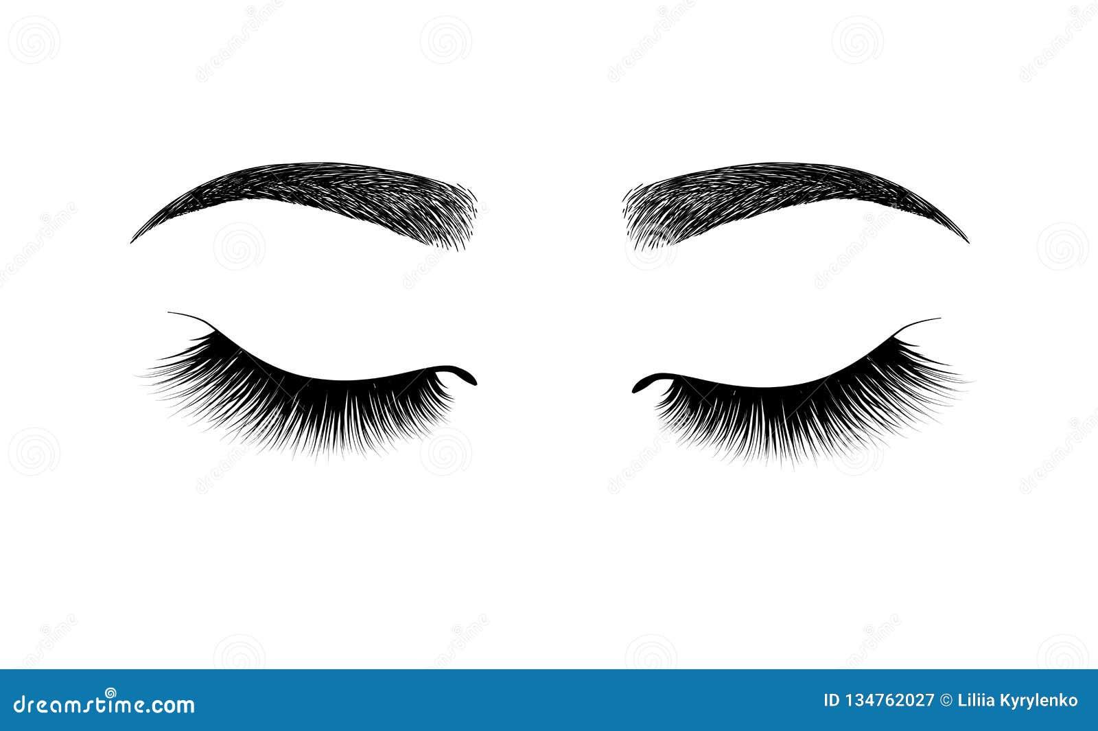 Sourcil parfaitement formé maquillage permanent et tatouer Cosmétique pour des sourcils Extension de cil Un beau maquillage profo