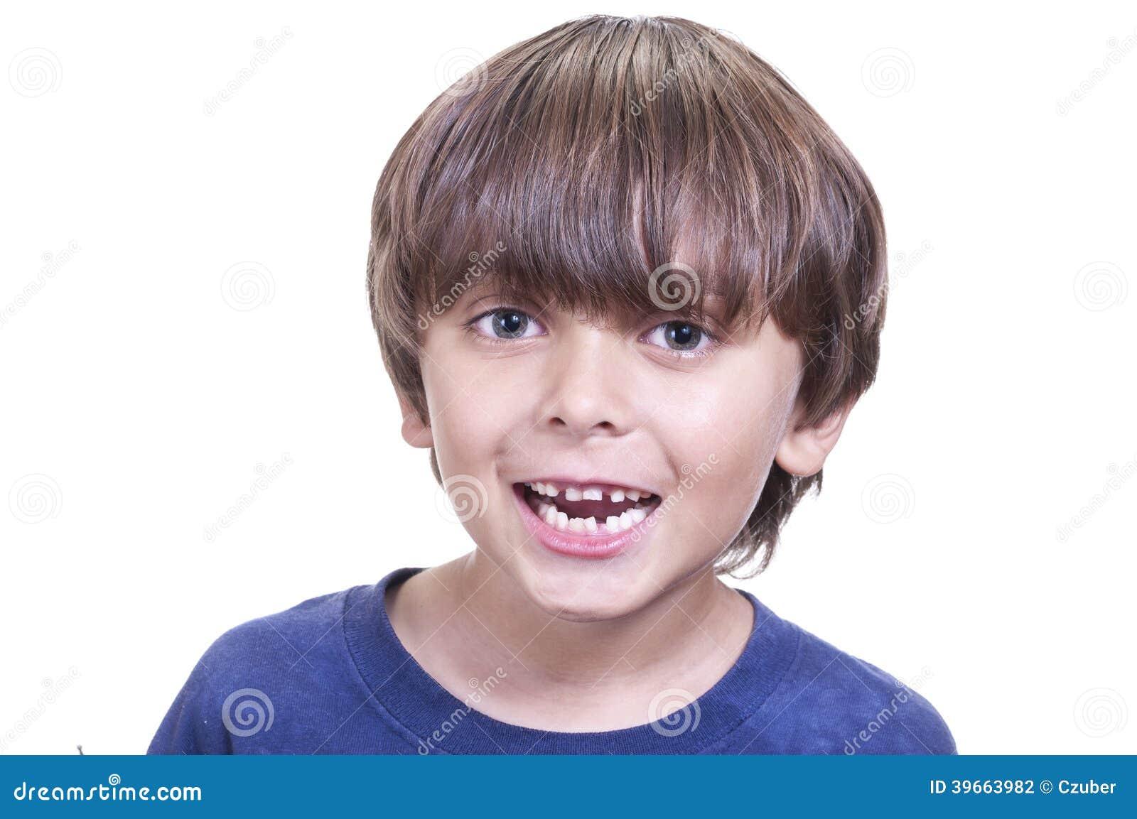 Sourire de dents de lait