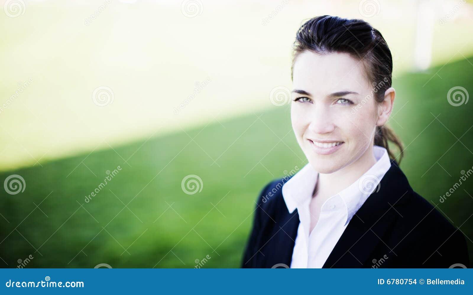 Sourire de femme d affaires