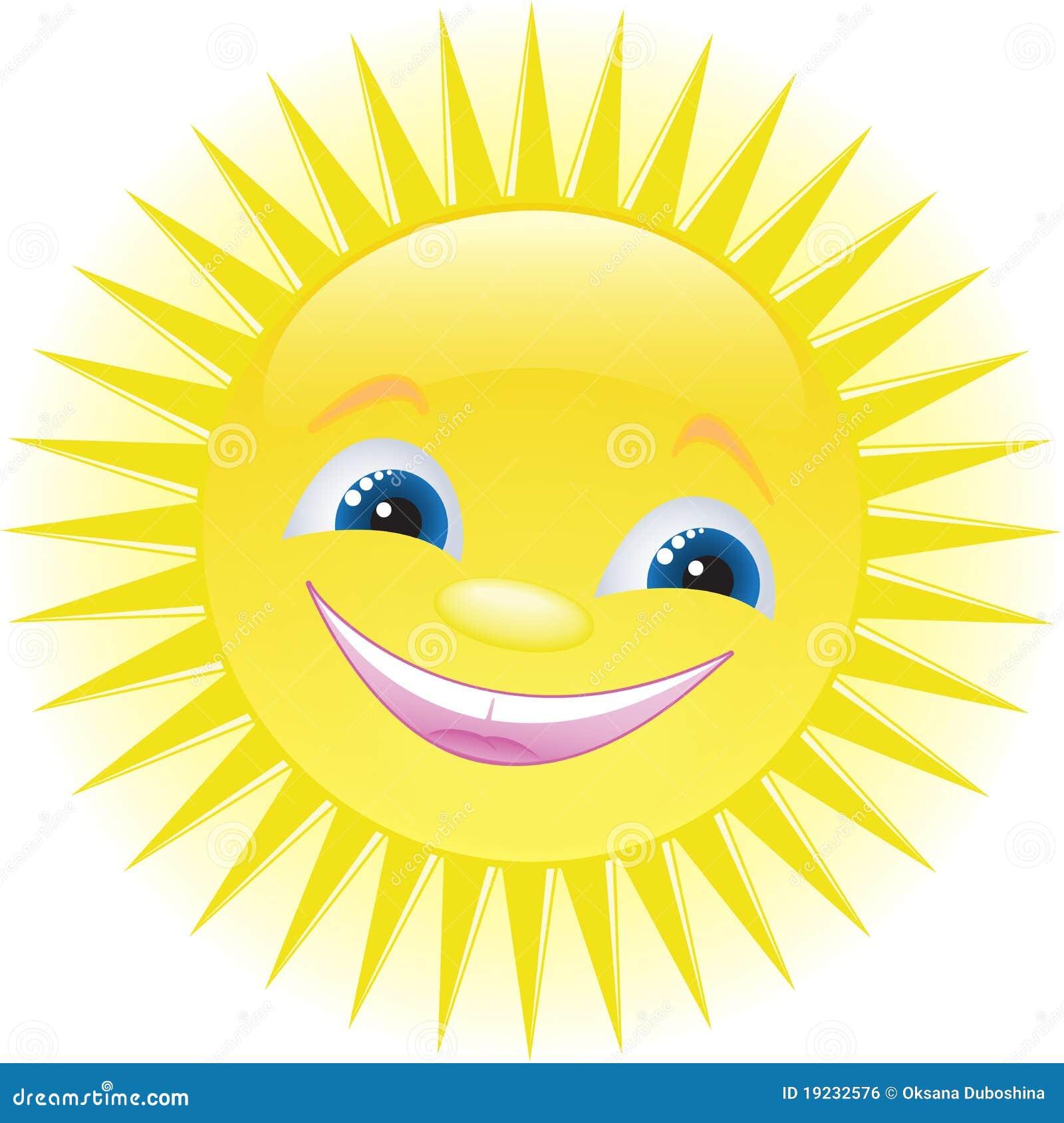 Sourire Drôle Du Soleil De Dessin Animé Image libre de ...