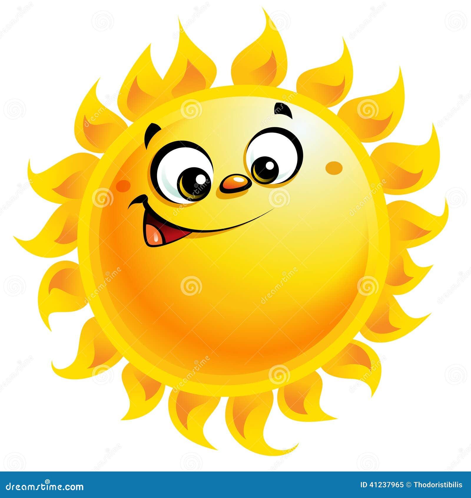 Sourire heureux de caract re du soleil de jaune de bande - Dessin du soleil ...