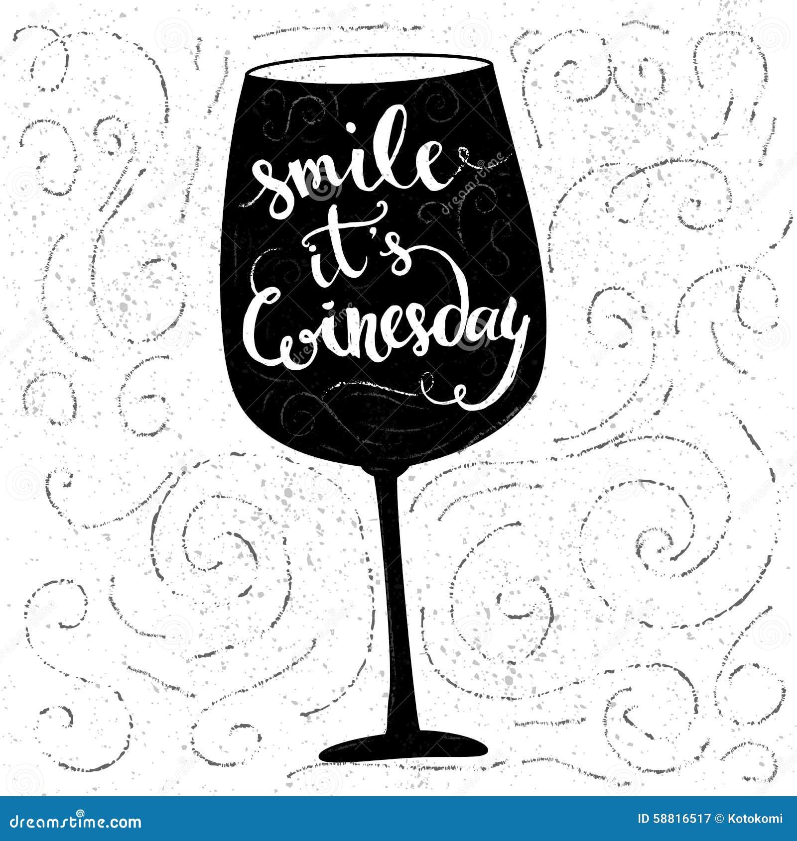 Sourire, il est winesday - citation inspirée